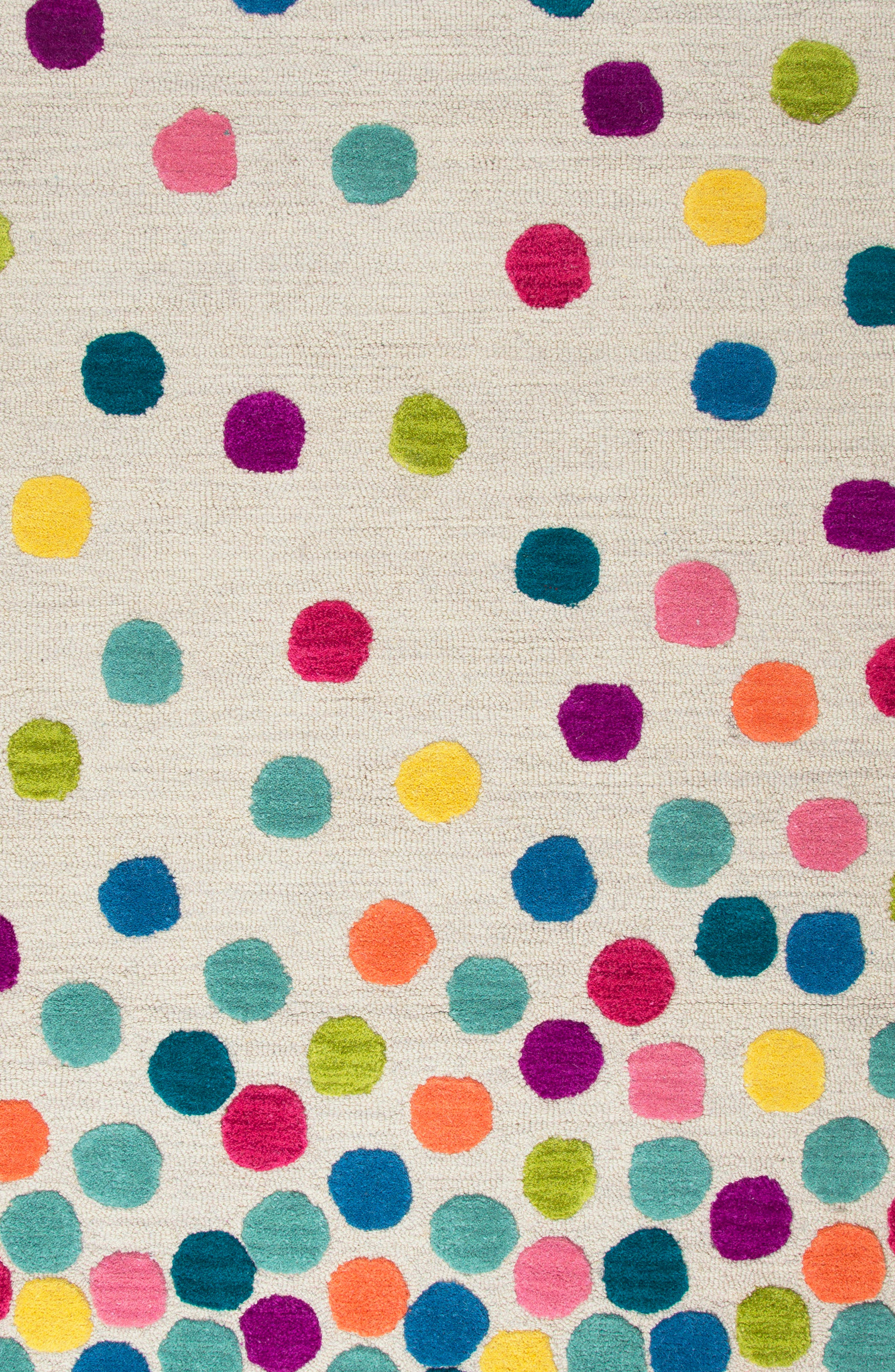 Play Day Crazy Dots Rug,                             Alternate thumbnail 2, color,                             Ivory