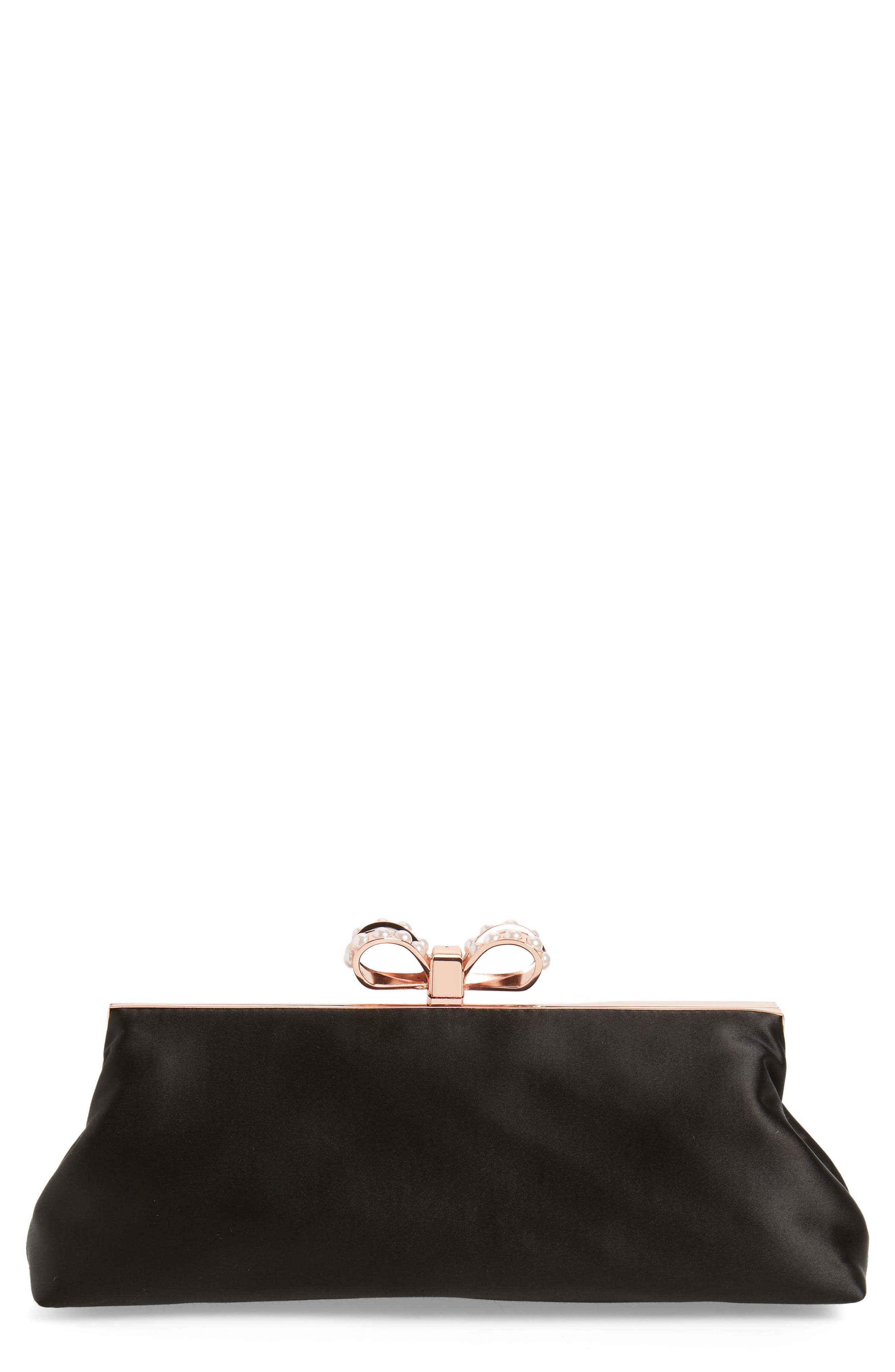 Ted Baker London Georgaa Bow Clasp Evening Bag