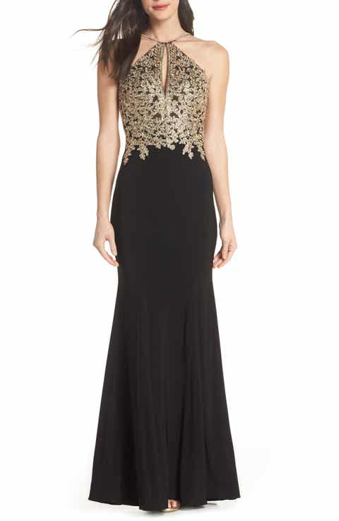 item 6 NEW XSCAPE EMBROIDERED LACE MERMAID NAVY GOWN DRESS [ Size: 6P ]  #X38 - NEW XSCAPE EMBROIDERED LACE MERMAID NAVY GOWN DRESS [ Size: 6P ] #X38