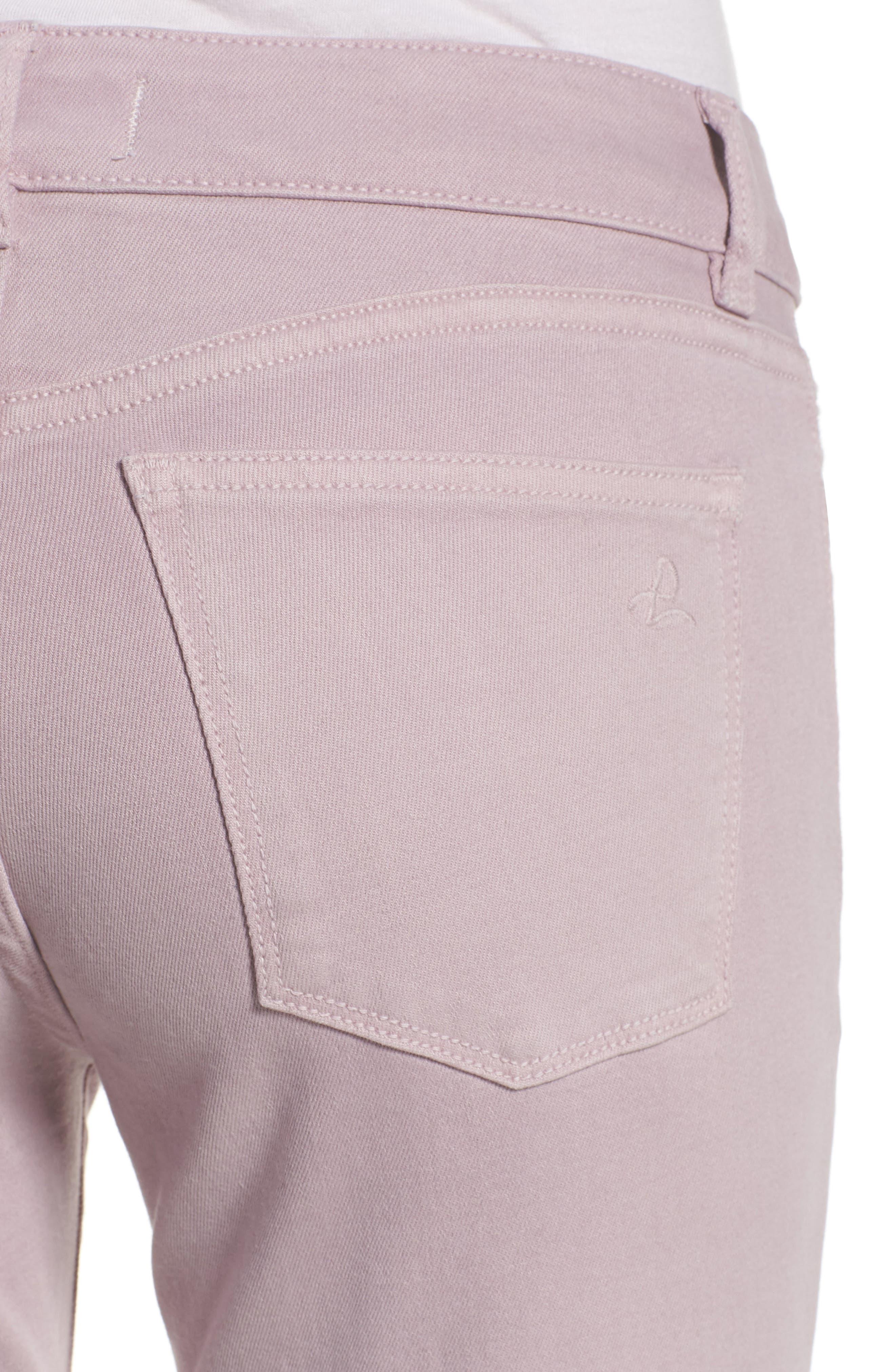 Florence Instasculpt Crop Skinny Jeans,                             Alternate thumbnail 4, color,                             Magnolia