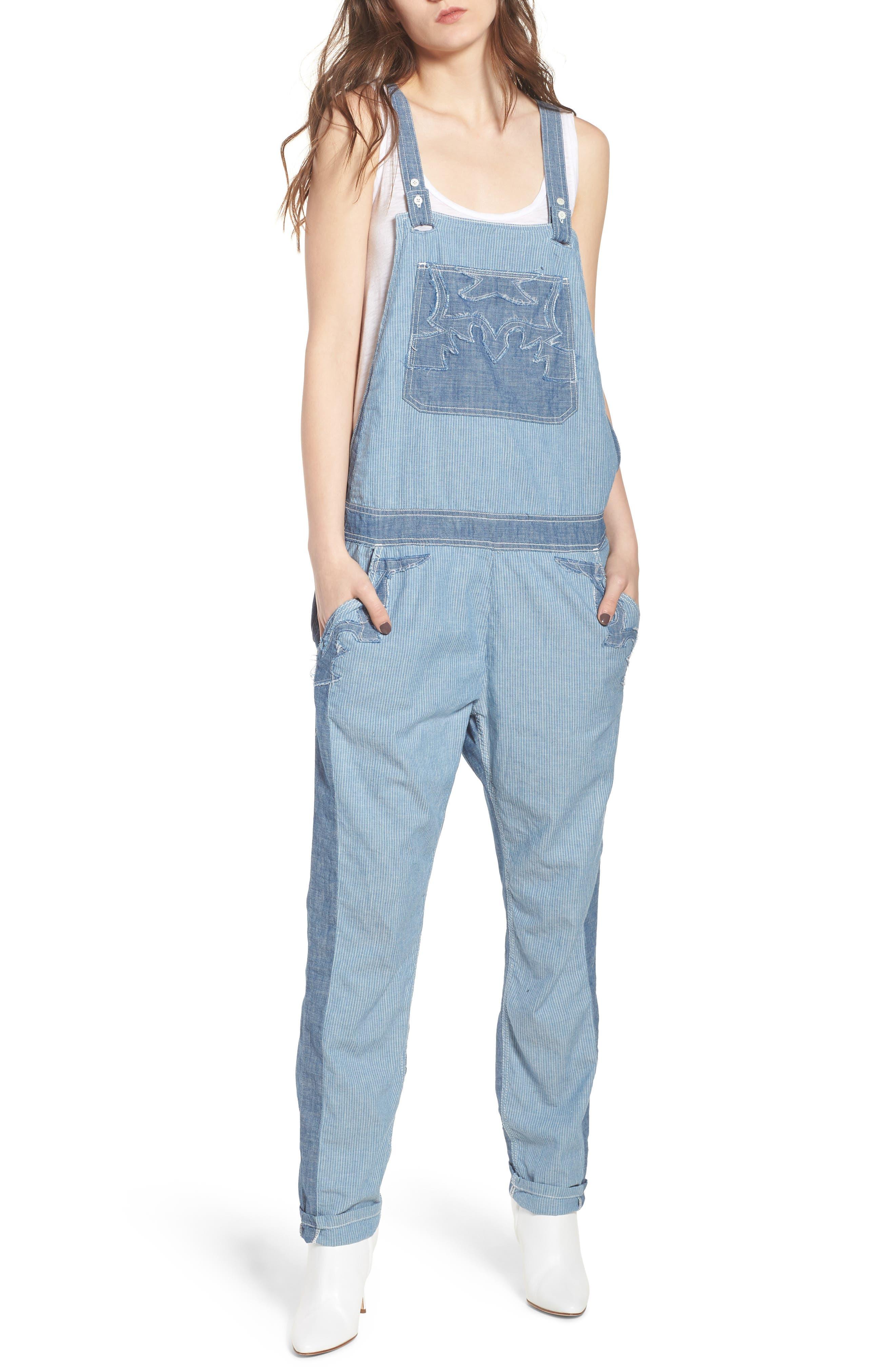Sidney Patch Overalls,                         Main,                         color, Bleu