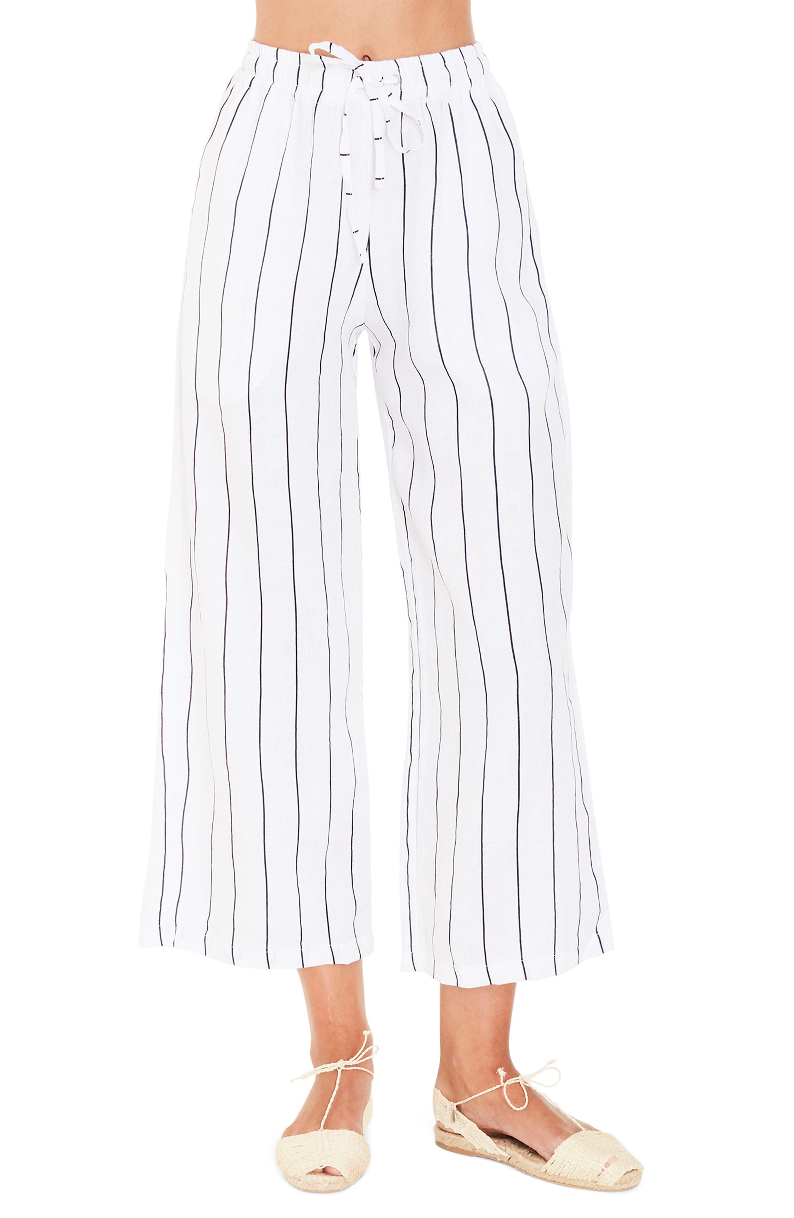 FAITHFULL THE BRAND Clemence Stripe Linen Pants