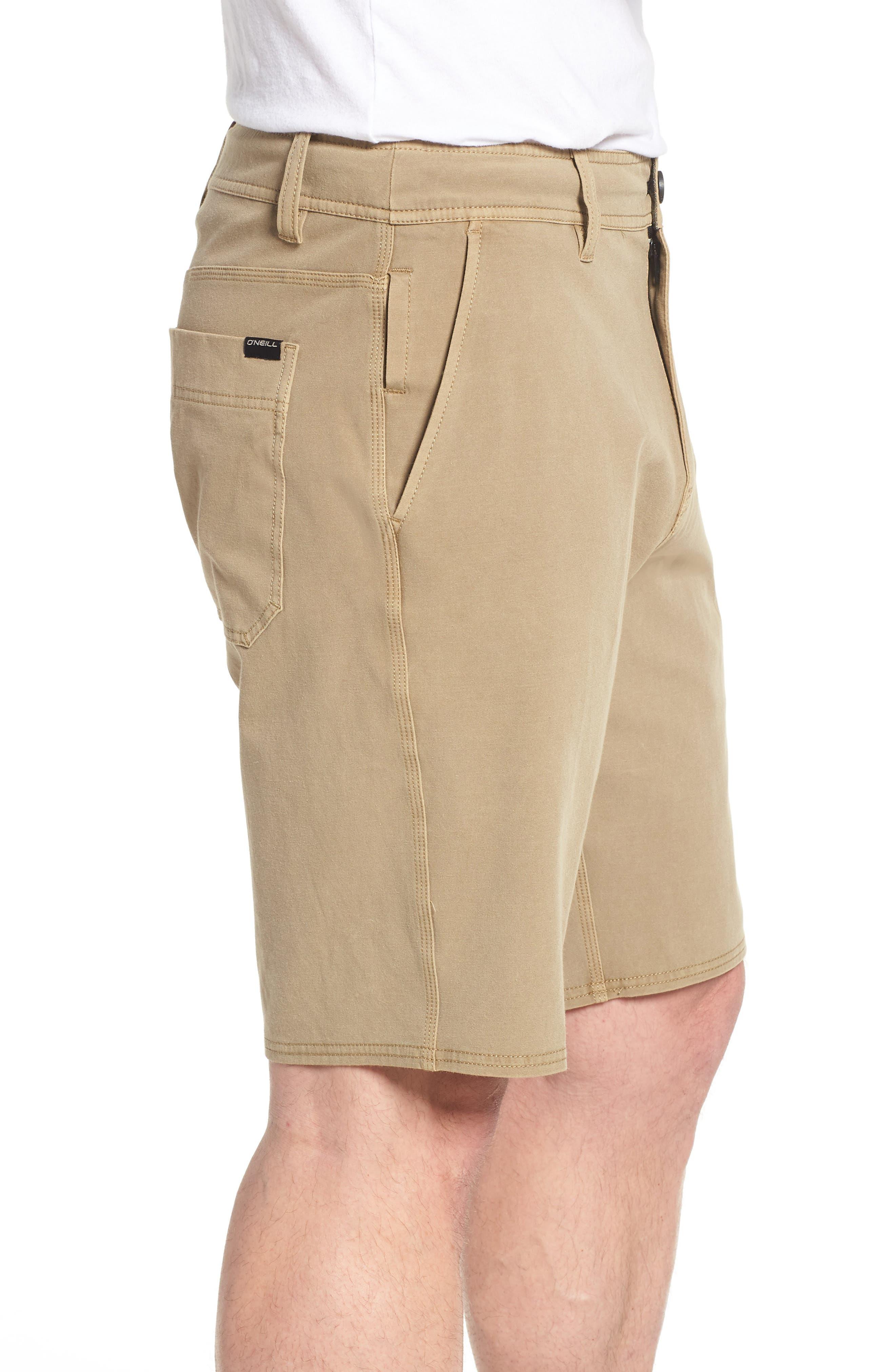 Venture Overdye Hybrid Shorts,                             Alternate thumbnail 3, color,                             Khaki