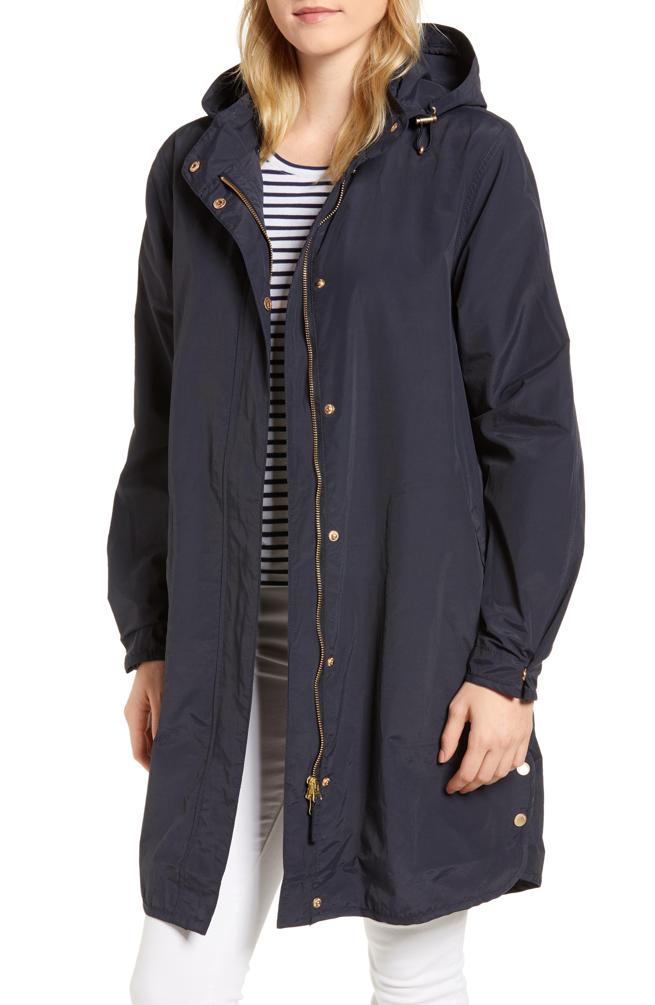 Packable Wind & Rain Coat,                         Main,                         color, Dark Indigo