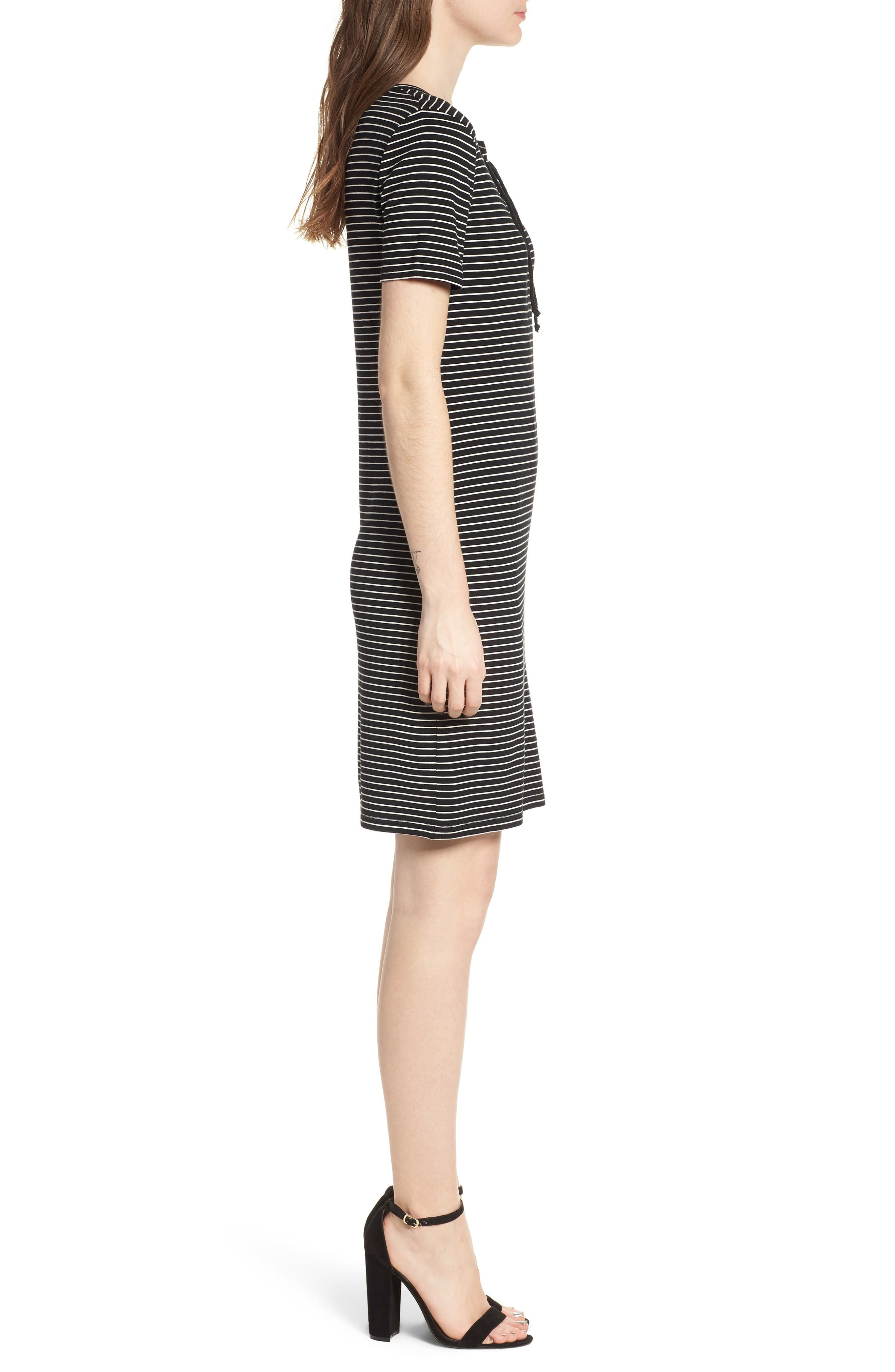Destiny Sheath Dress,                             Alternate thumbnail 3, color,                             Black