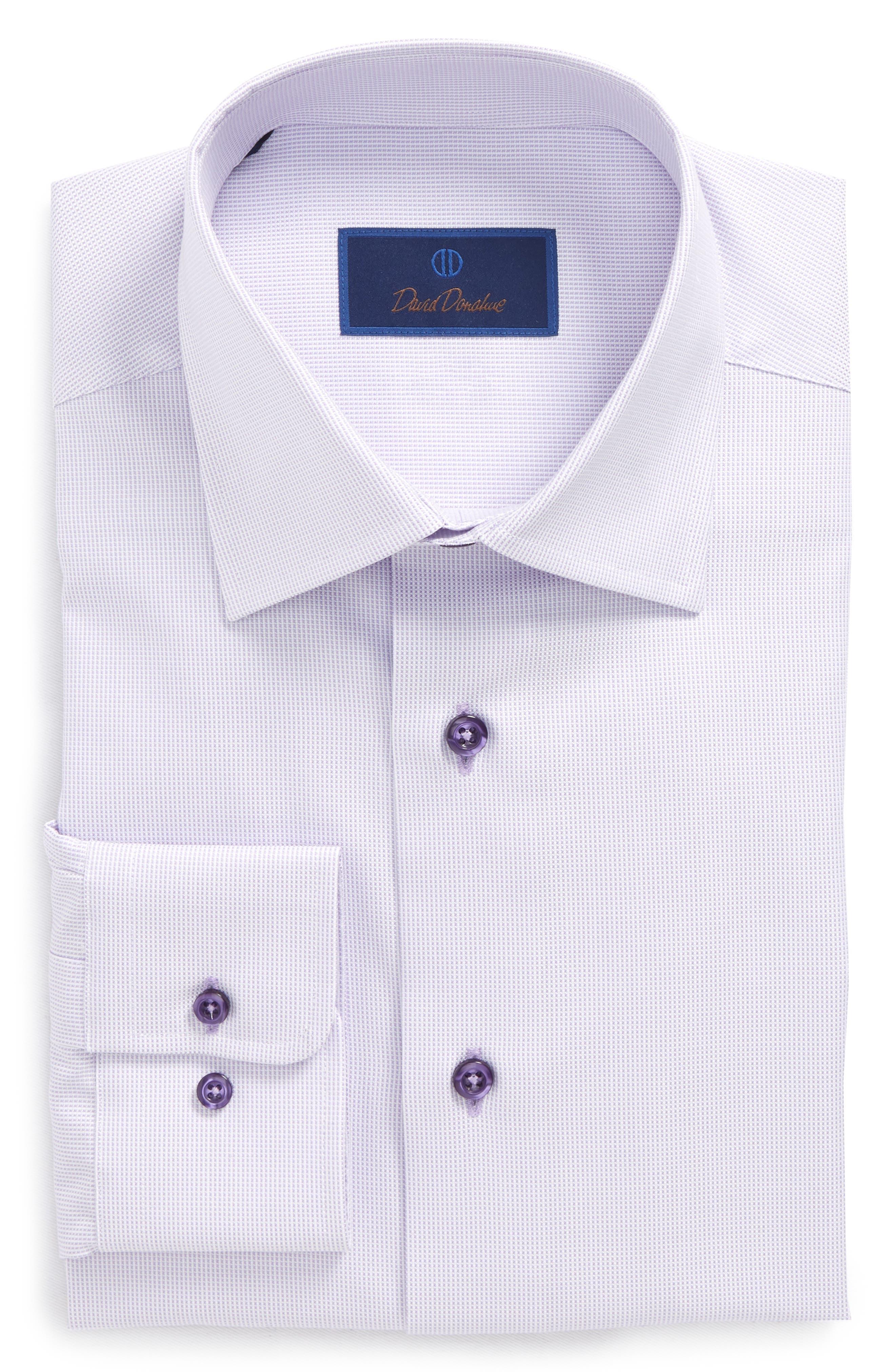 Regular Fit Solid Dress Shirt,                             Alternate thumbnail 6, color,                             Lilac