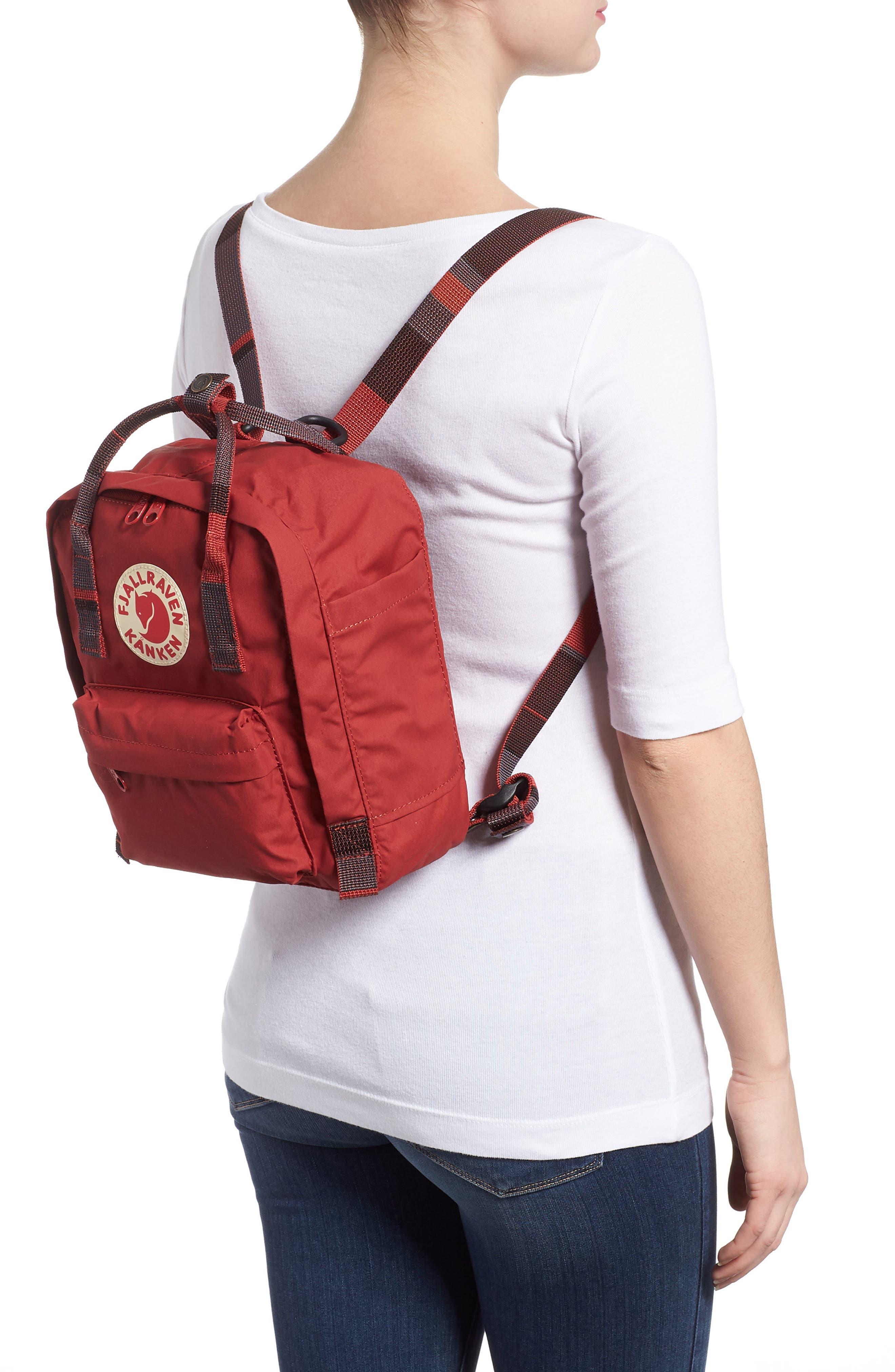'Mini Kånken' Water Resistant Backpack,                             Alternate thumbnail 2, color,                             Deep Red Blocked
