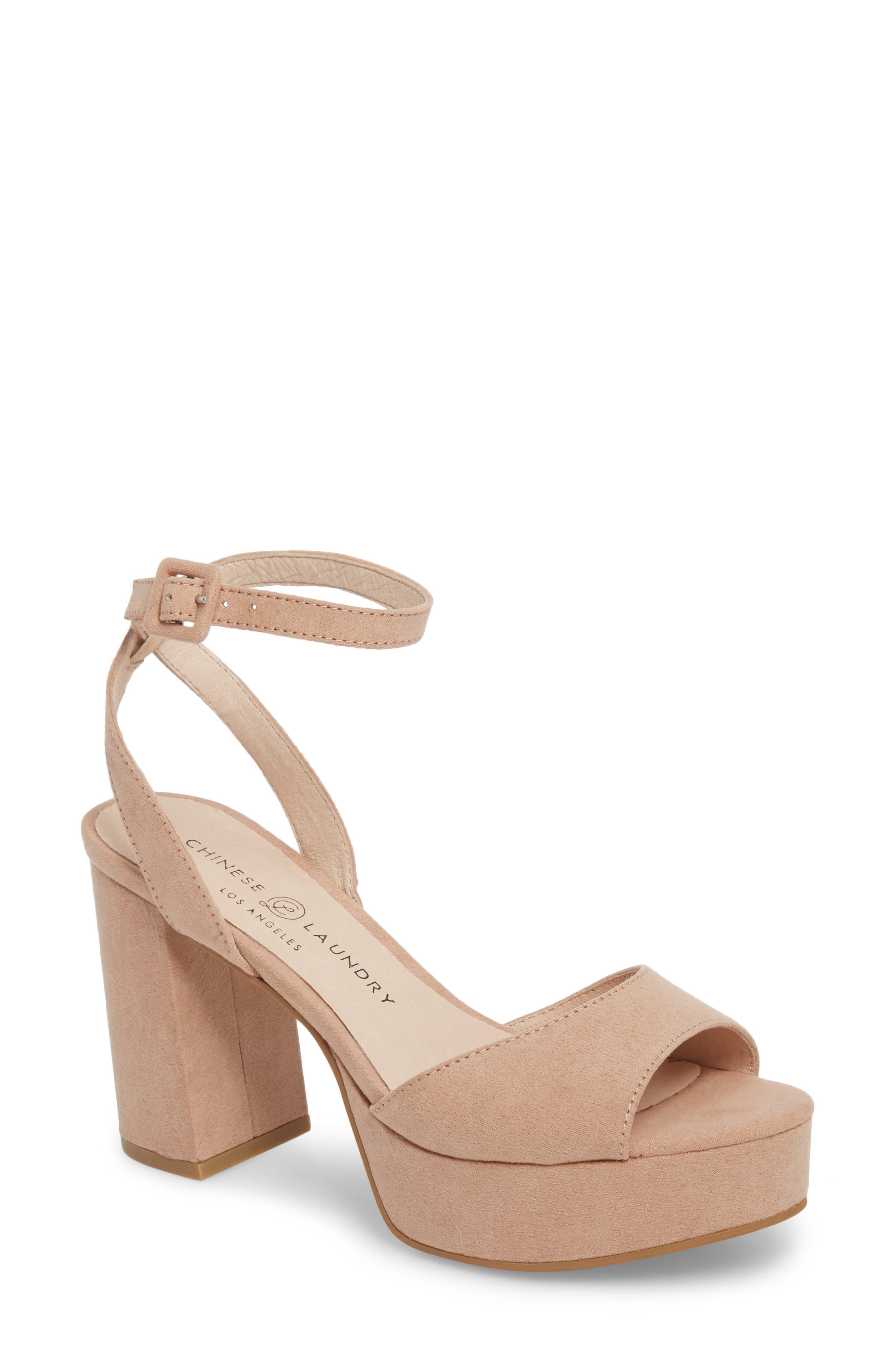 Theresa Platform Sandal,                         Main,                         color, Dark Nude