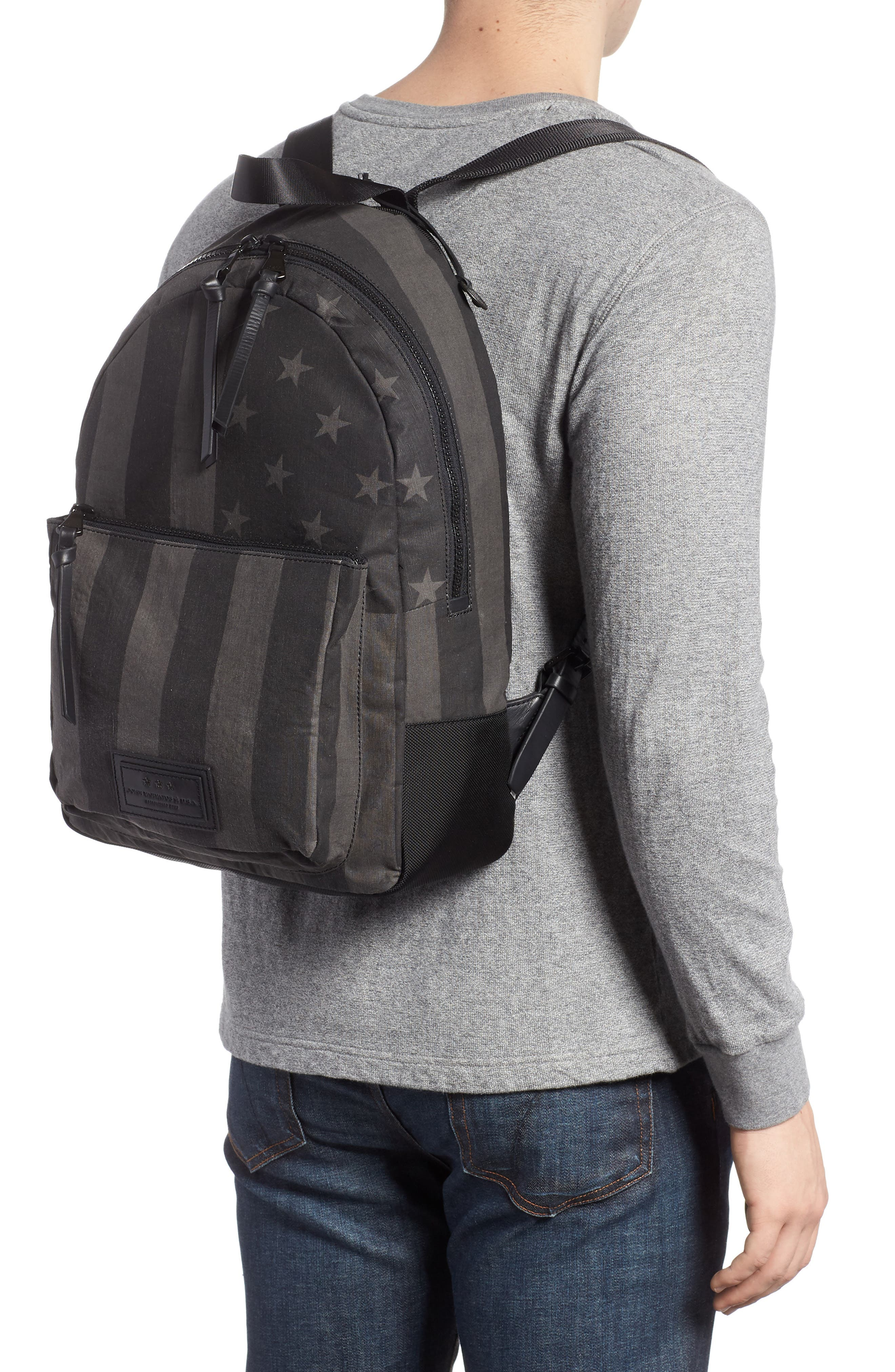 Gibson Flag Print Backpack,                             Alternate thumbnail 2, color,                             Charcoal