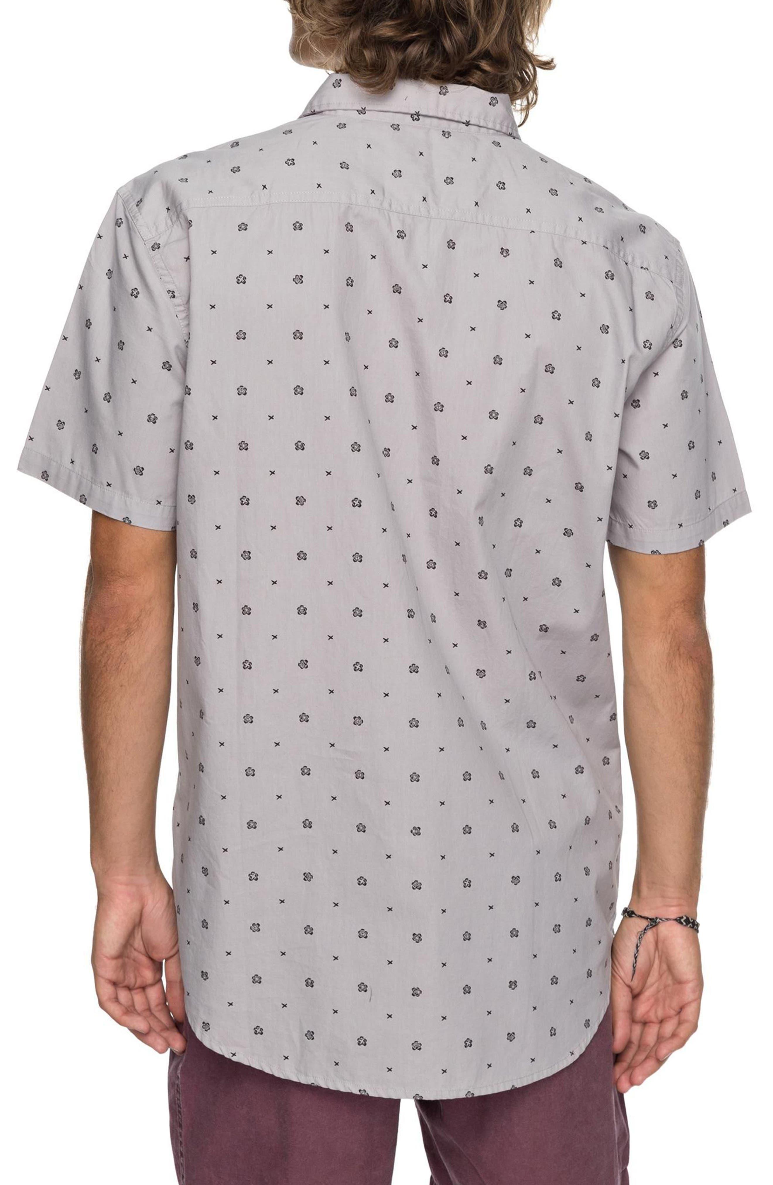 Kamanoa Short Sleeve Shirt,                             Alternate thumbnail 2, color,                             Silver Sconce