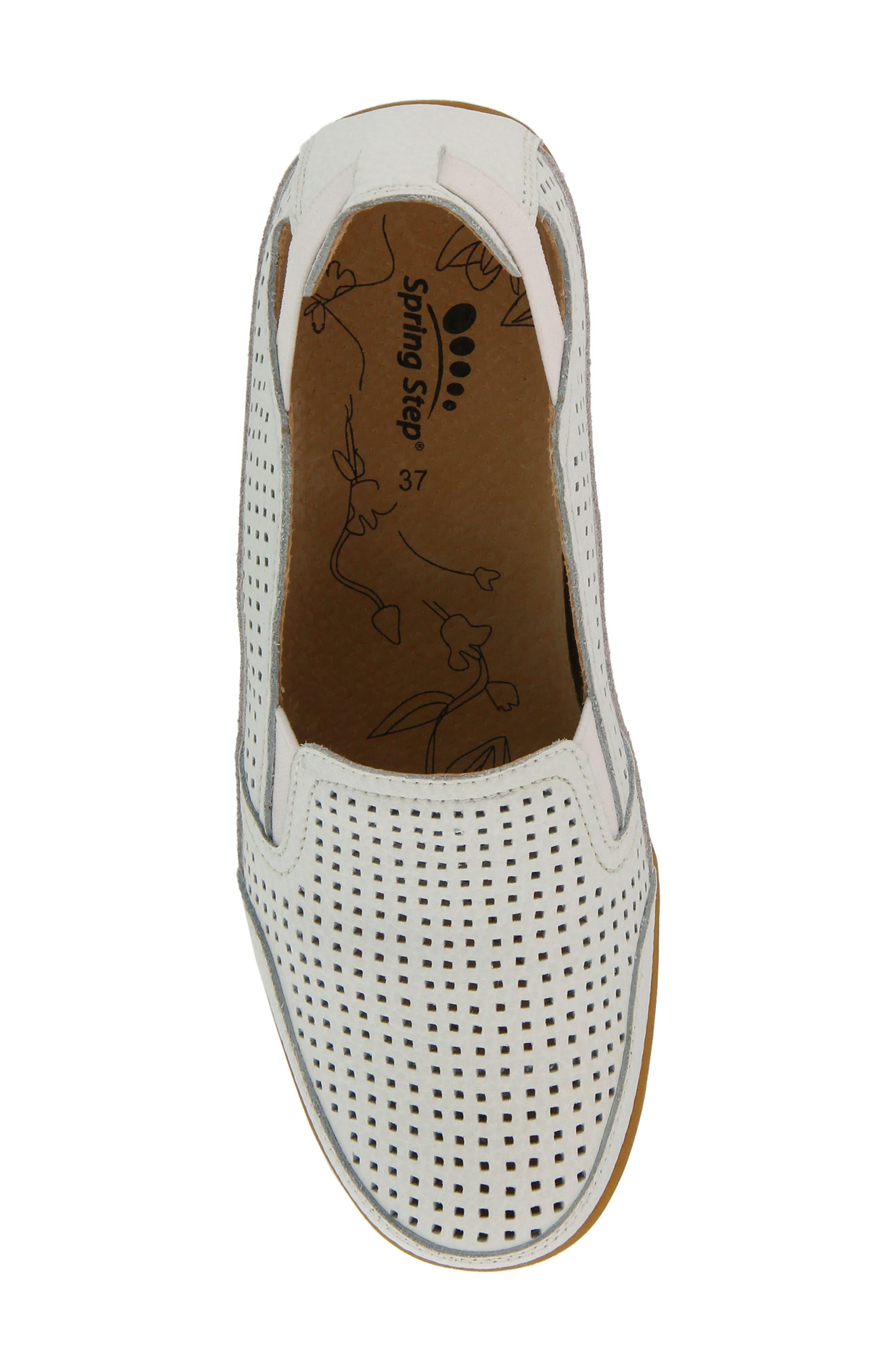 Juhi Flat,                             Alternate thumbnail 4, color,                             White Leather