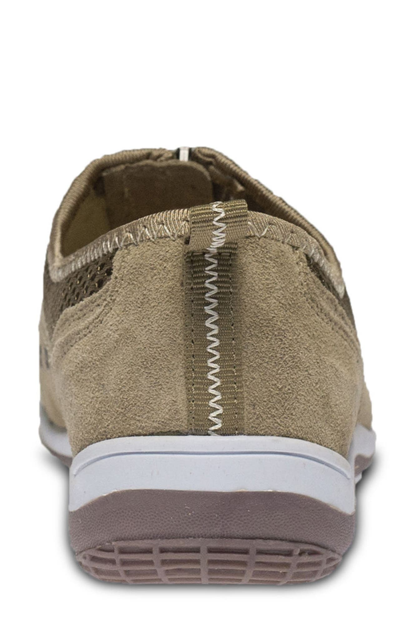 Racer Slip-On Sneaker,                             Alternate thumbnail 4, color,                             Taupe Suede