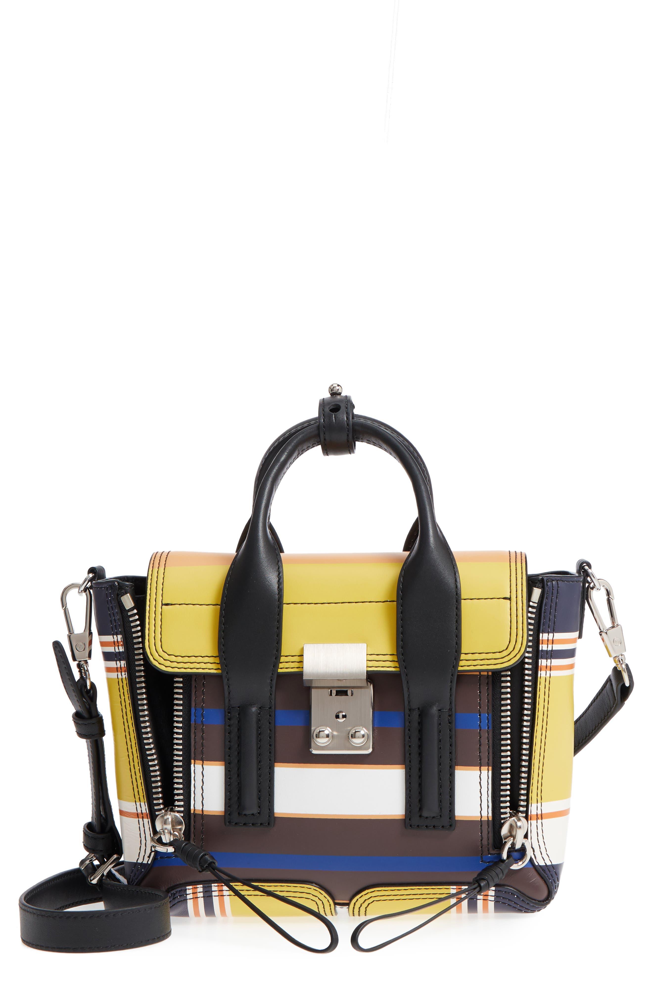 Alternate Image 1 Selected - 3.1 Phillip Lim Mini Pashli Stripe Leather Satchel