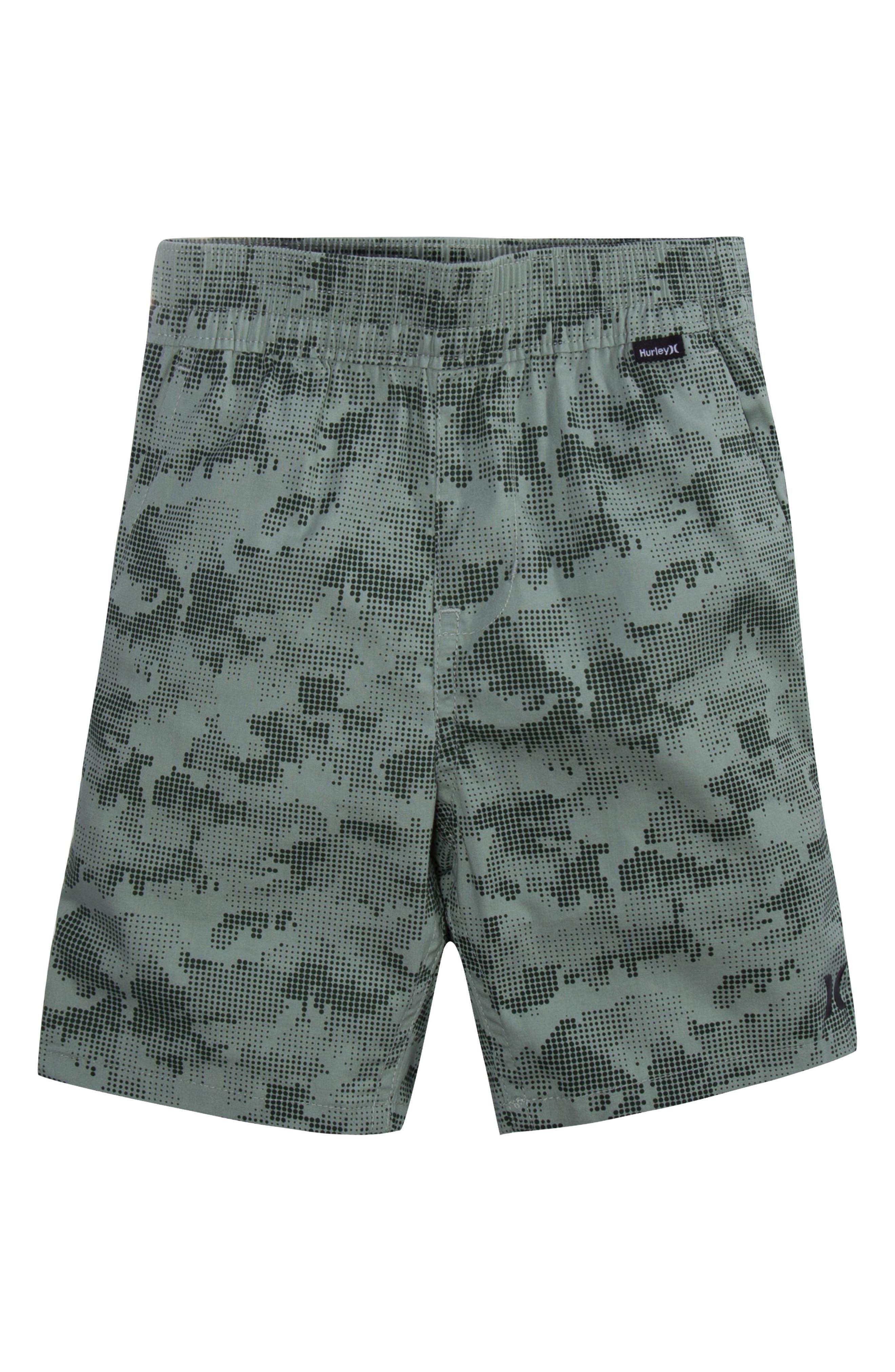Poplin Pull-On Shorts,                         Main,                         color, Clay Green