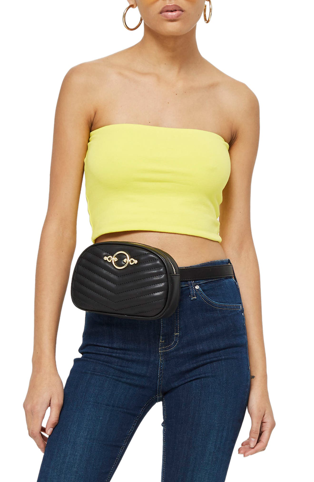 Solid Tube Top,                         Main,                         color, Yellow