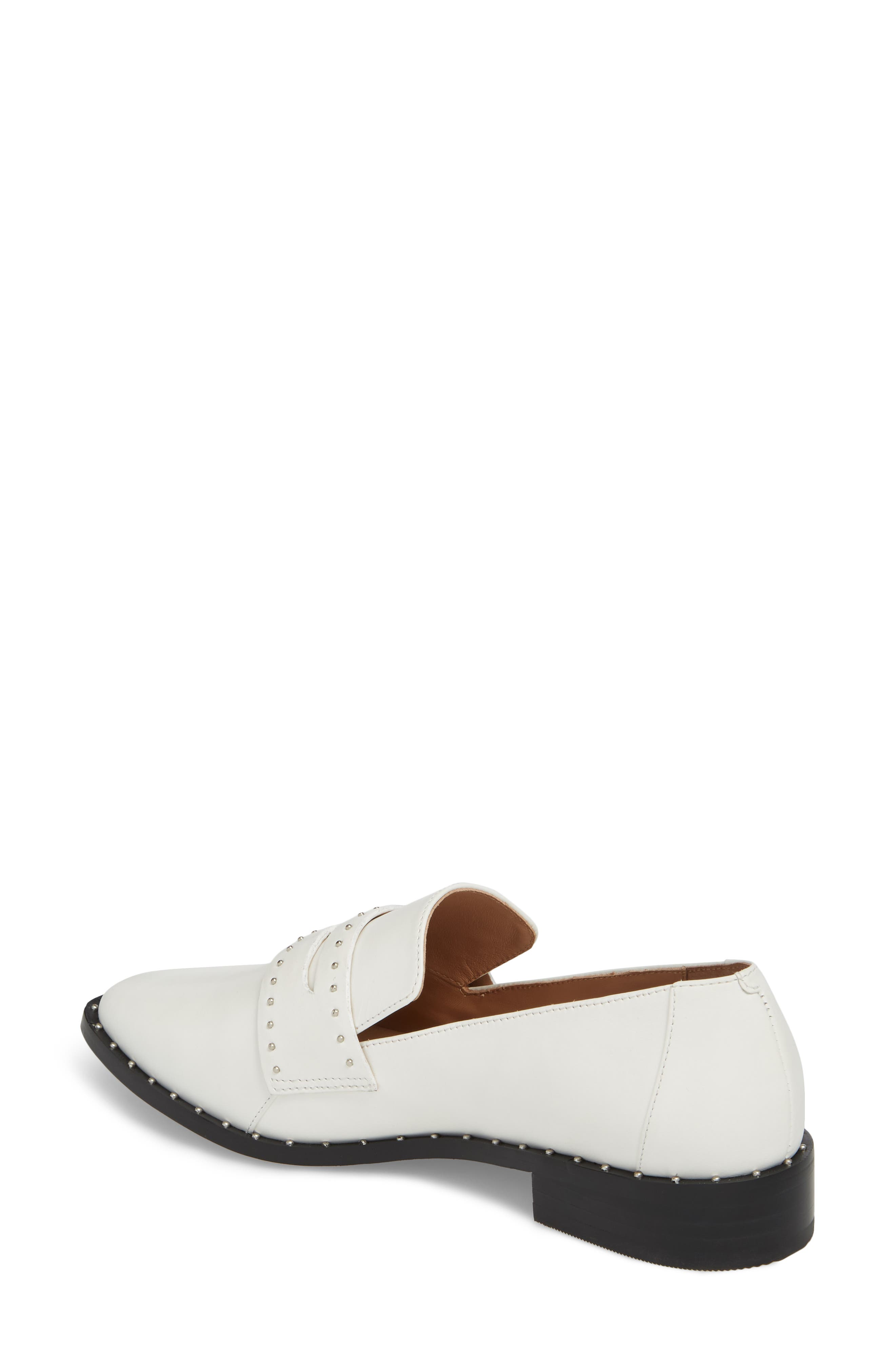 Tara Penny Loafer,                             Alternate thumbnail 2, color,                             Off White Leather