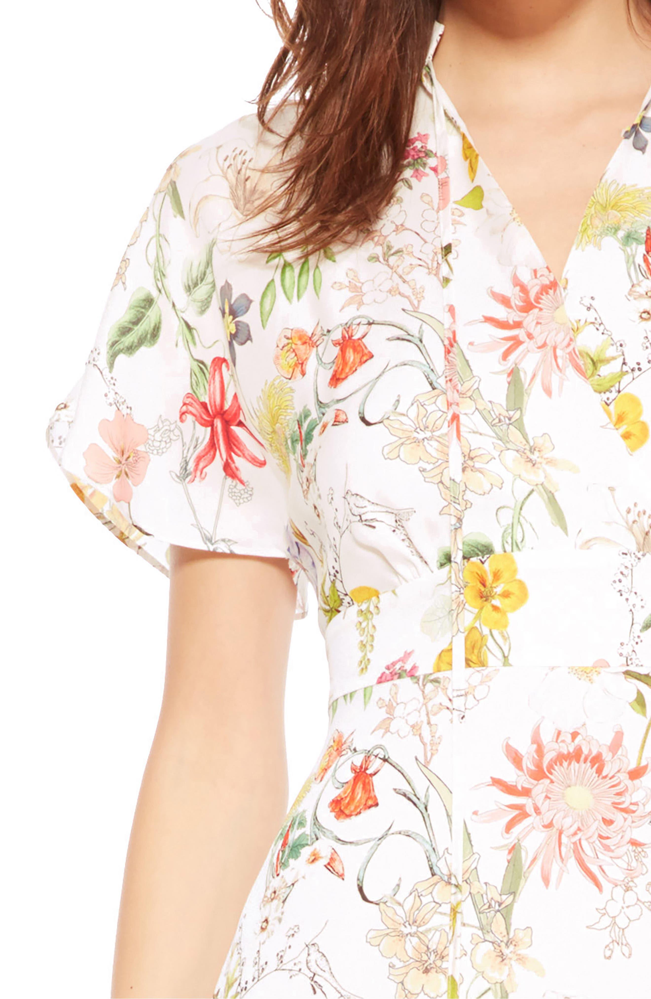 Alternate Image 4  - Parker Natalie Floral Silk Dress