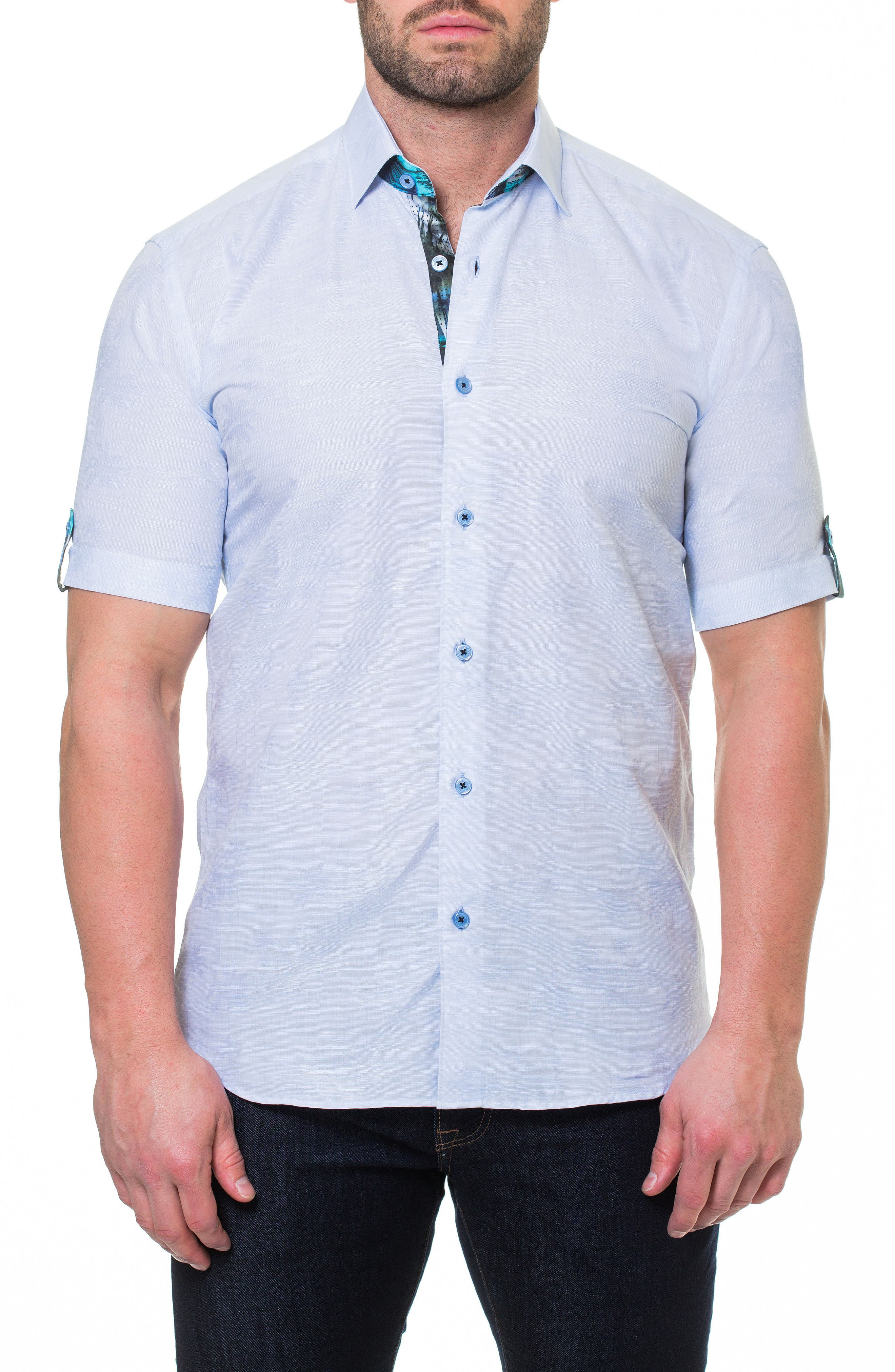 Fresh Palm Sport Shirt,                             Main thumbnail 1, color,                             Blue