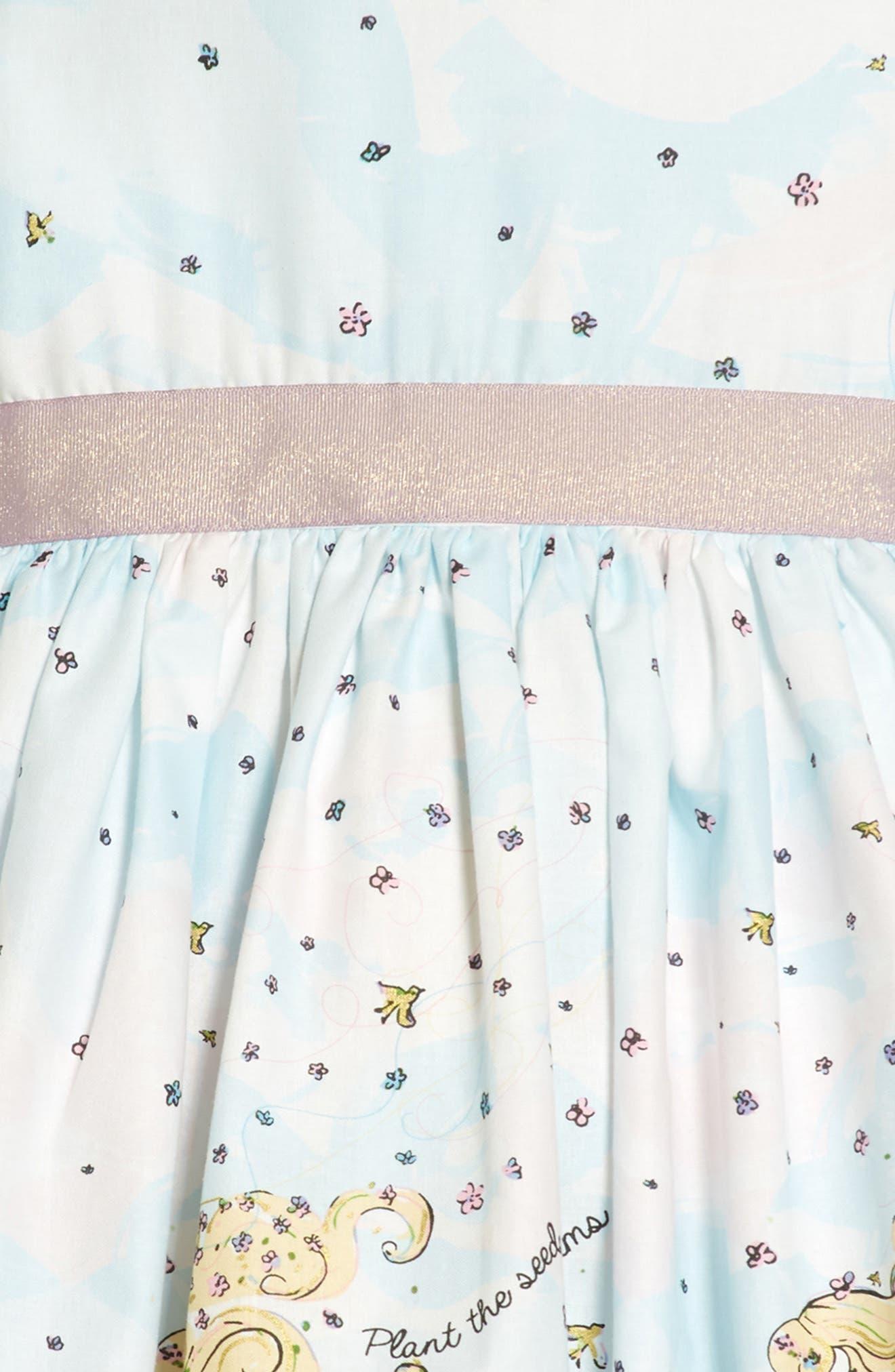 Flower Girl Party Dress,                             Alternate thumbnail 3, color,                             White
