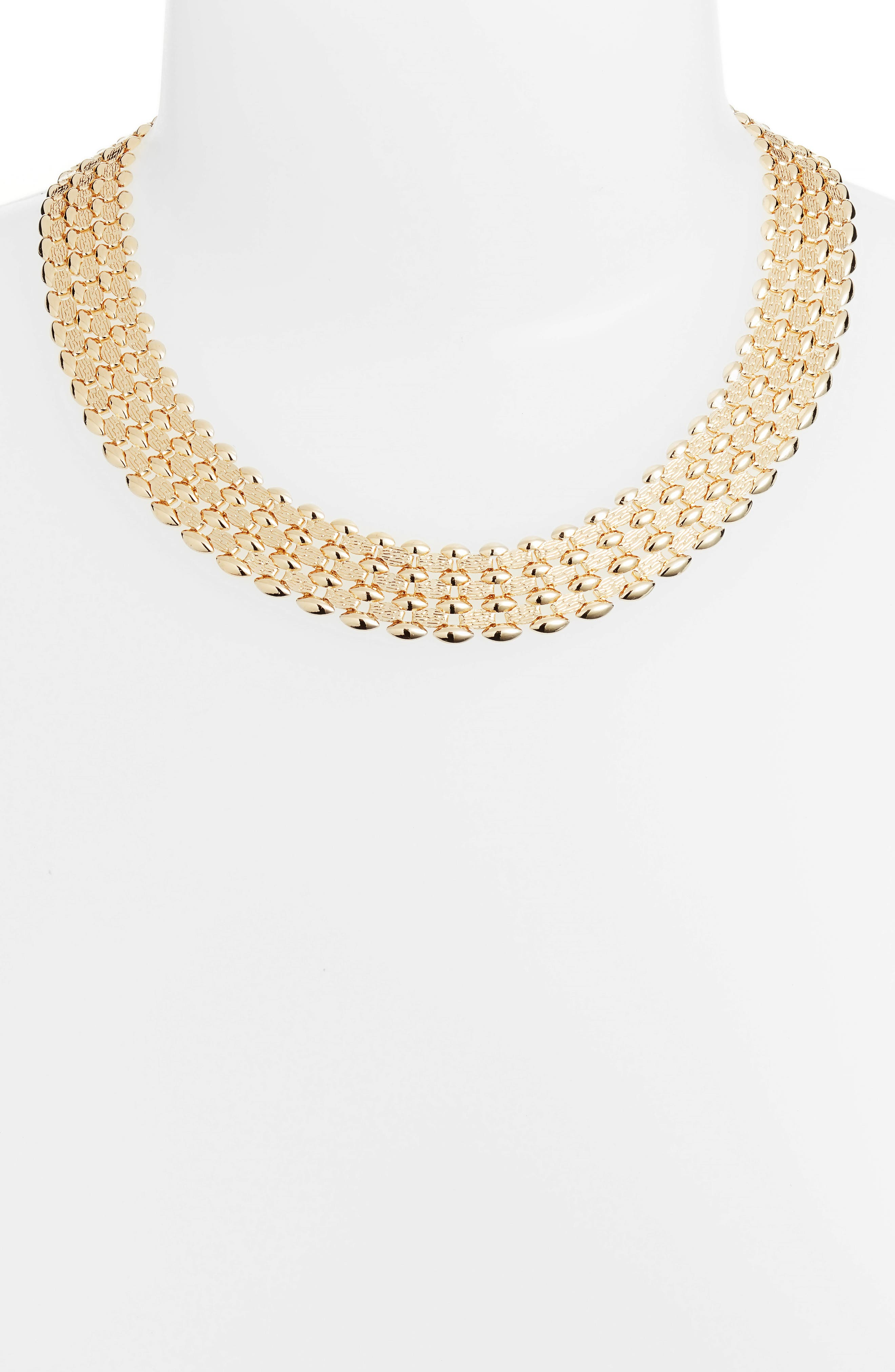 Glimmer Chain Collar,                             Alternate thumbnail 2, color,                             Gold