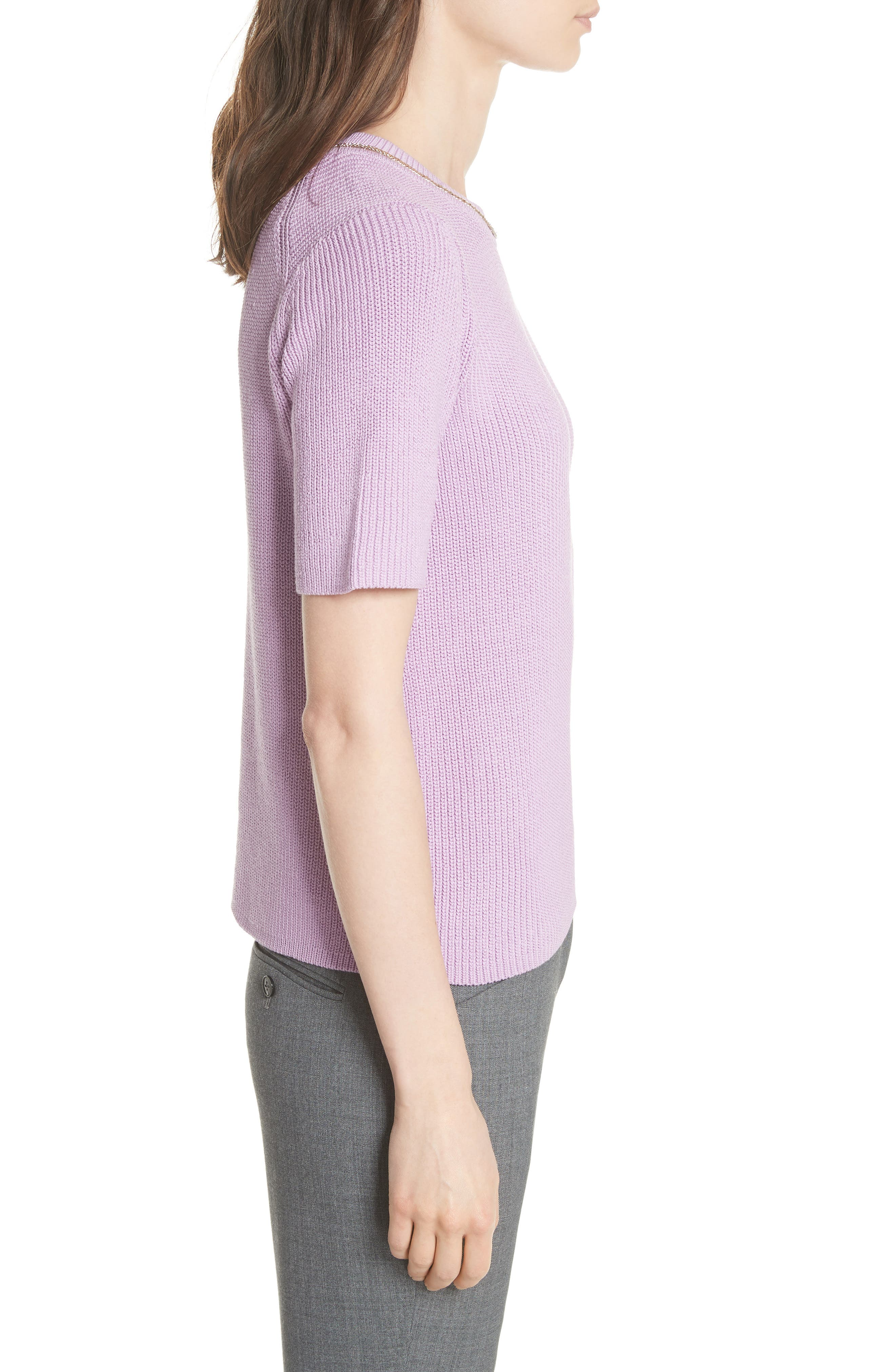 Magrite Sweater,                             Alternate thumbnail 3, color,                             Lilas