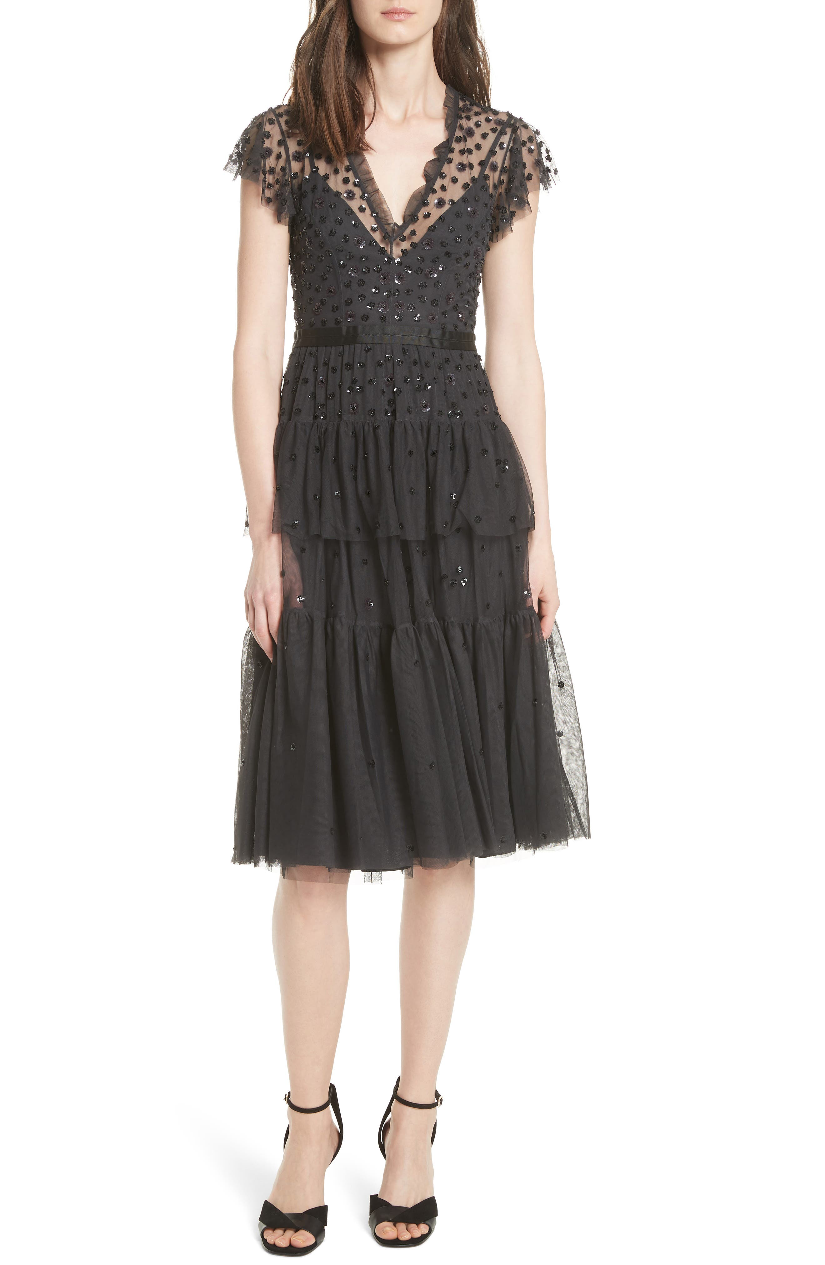 Mirage Sequin Dress,                         Main,                         color, Graphite