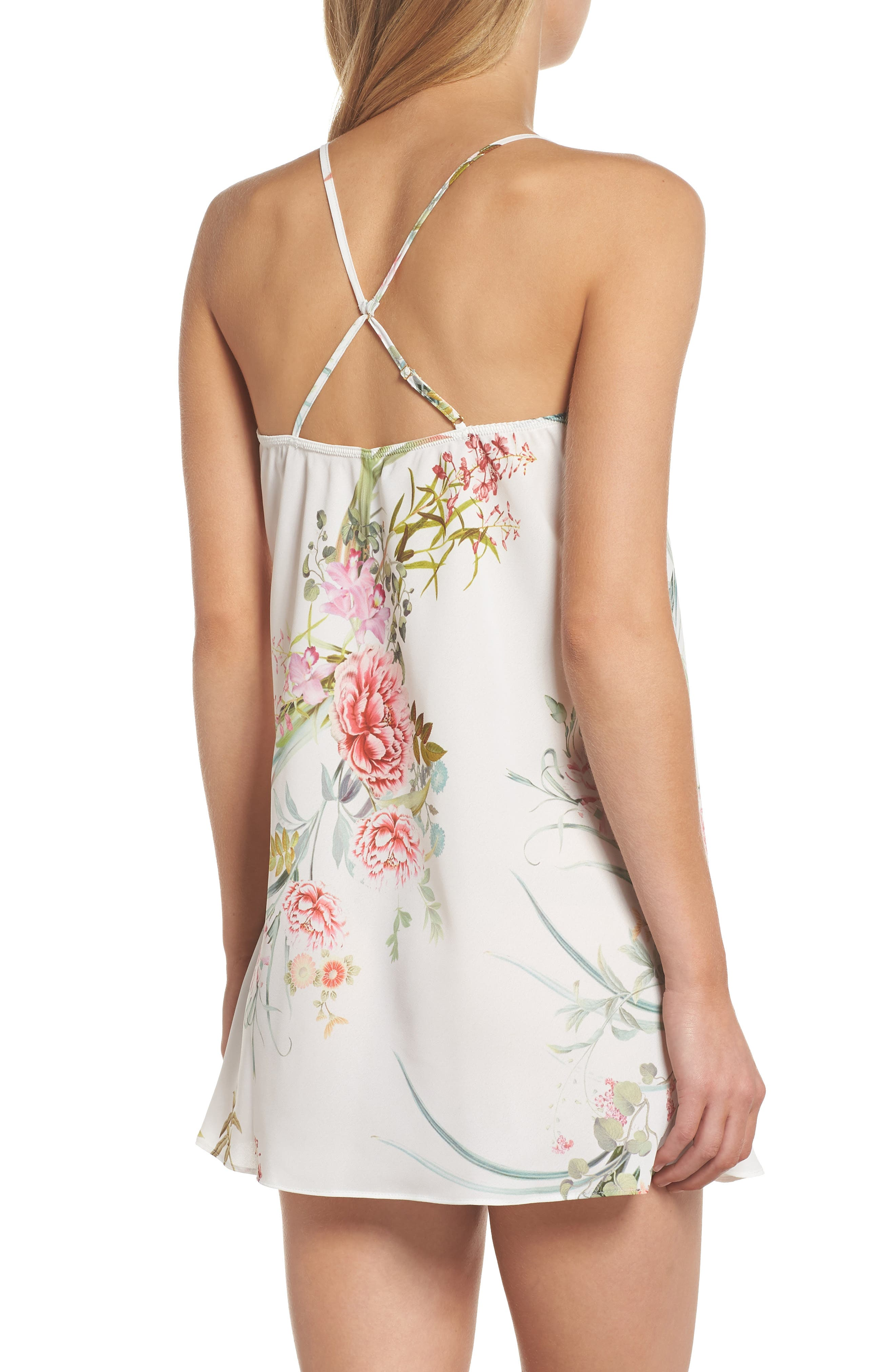 Fiona Crepe Chemise,                             Alternate thumbnail 2, color,                             Ivory