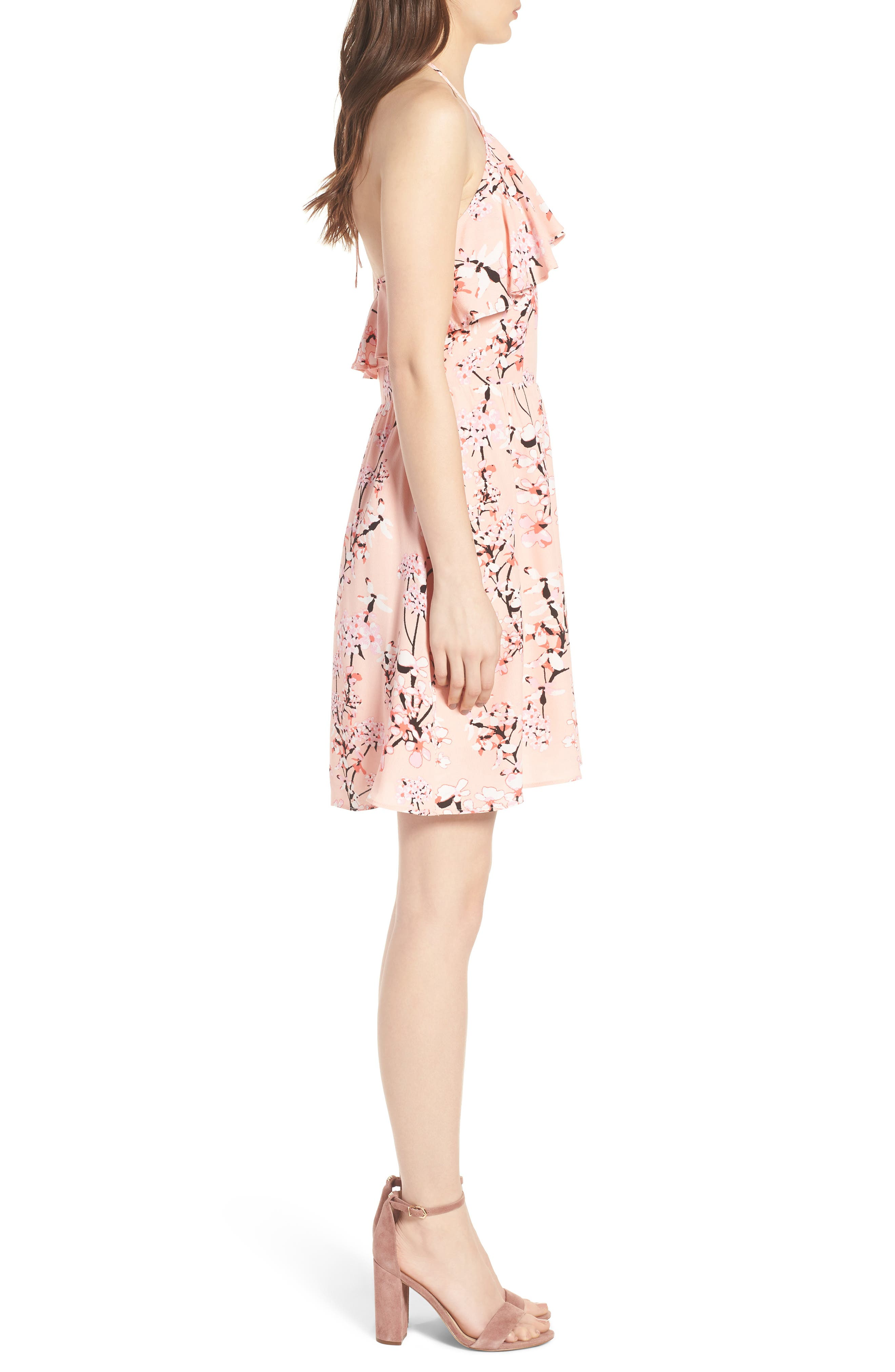 Alternate Image 3  - cupcakes and cashmere Corralyn Floral Print Halter Dress