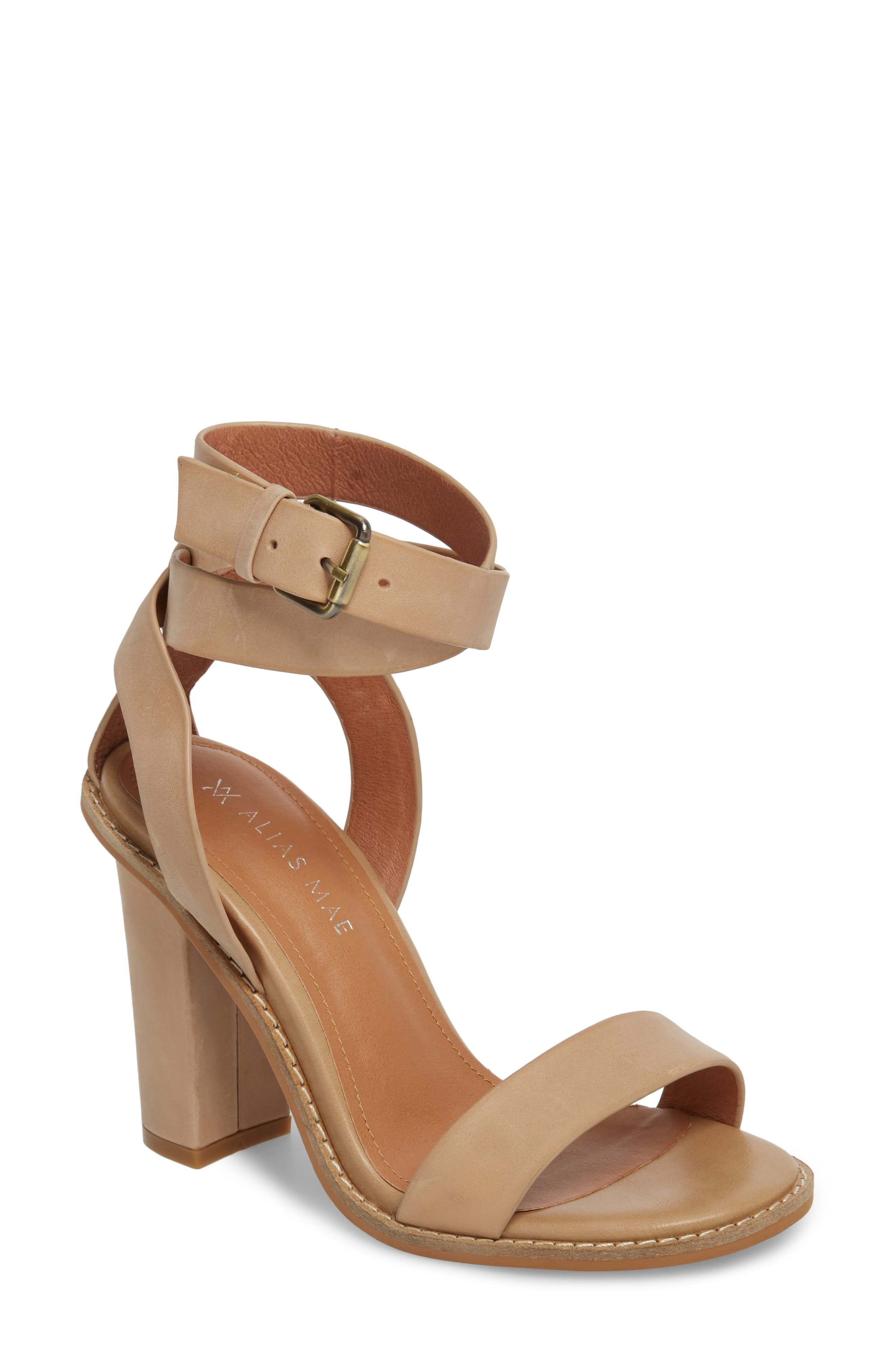 Calito Ankle Strap Sandal,                             Main thumbnail 1, color,                             Natural Leather