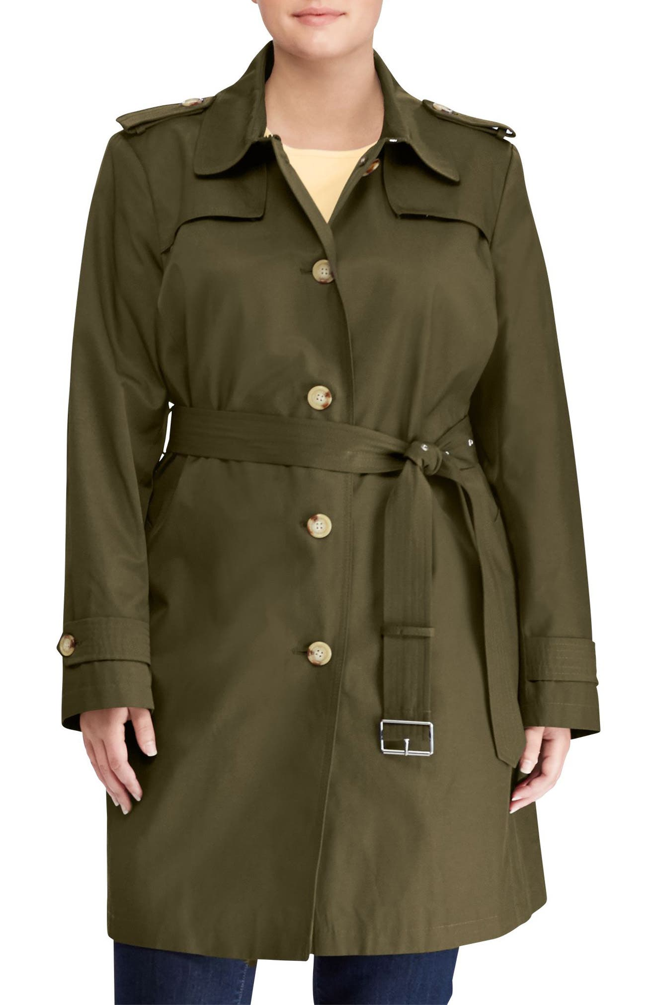 Lauren Ralph Lauren Trench Coat (Plus Size)