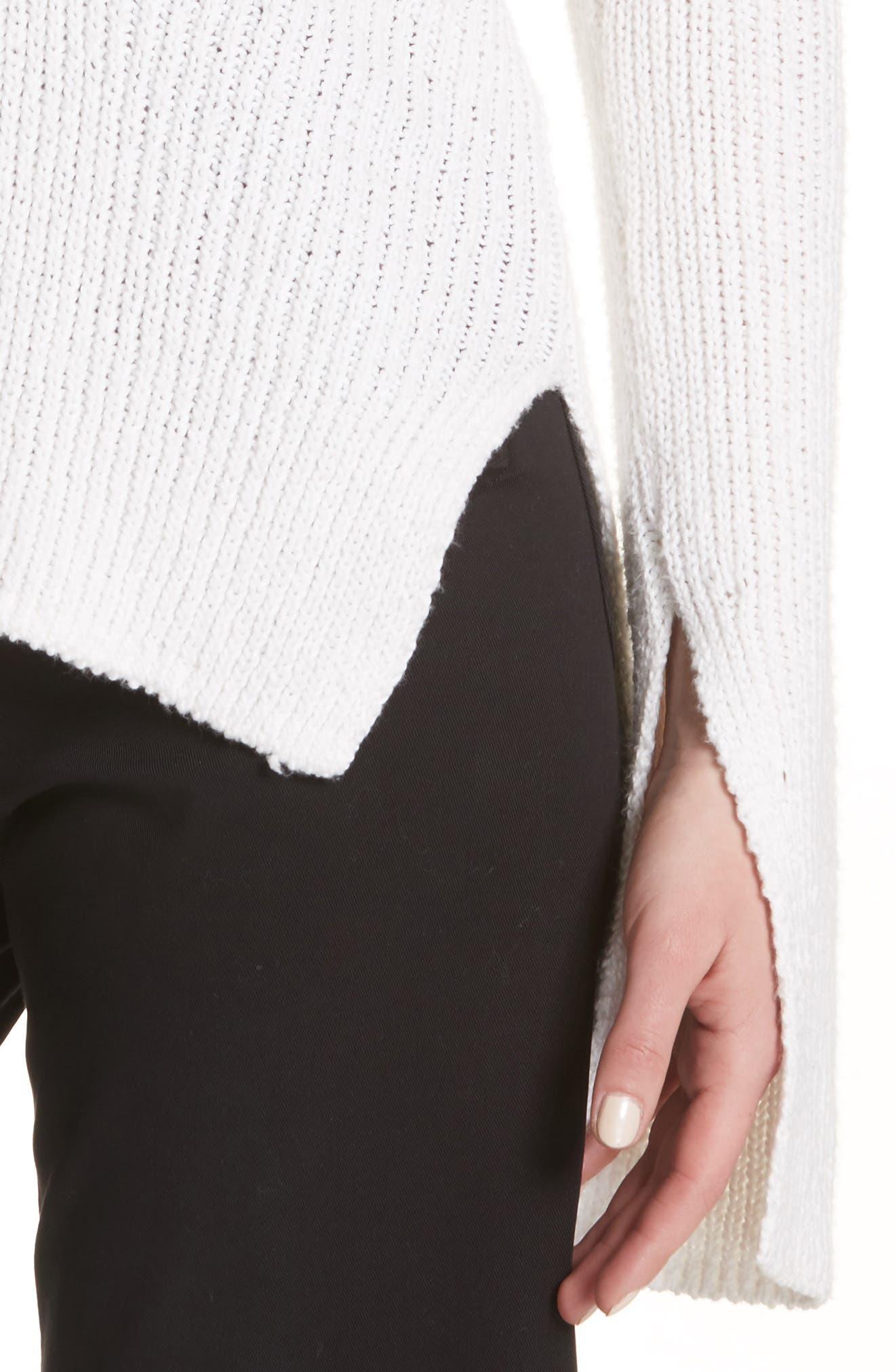 Nick Cotton Sweater,                             Alternate thumbnail 4, color,                             White