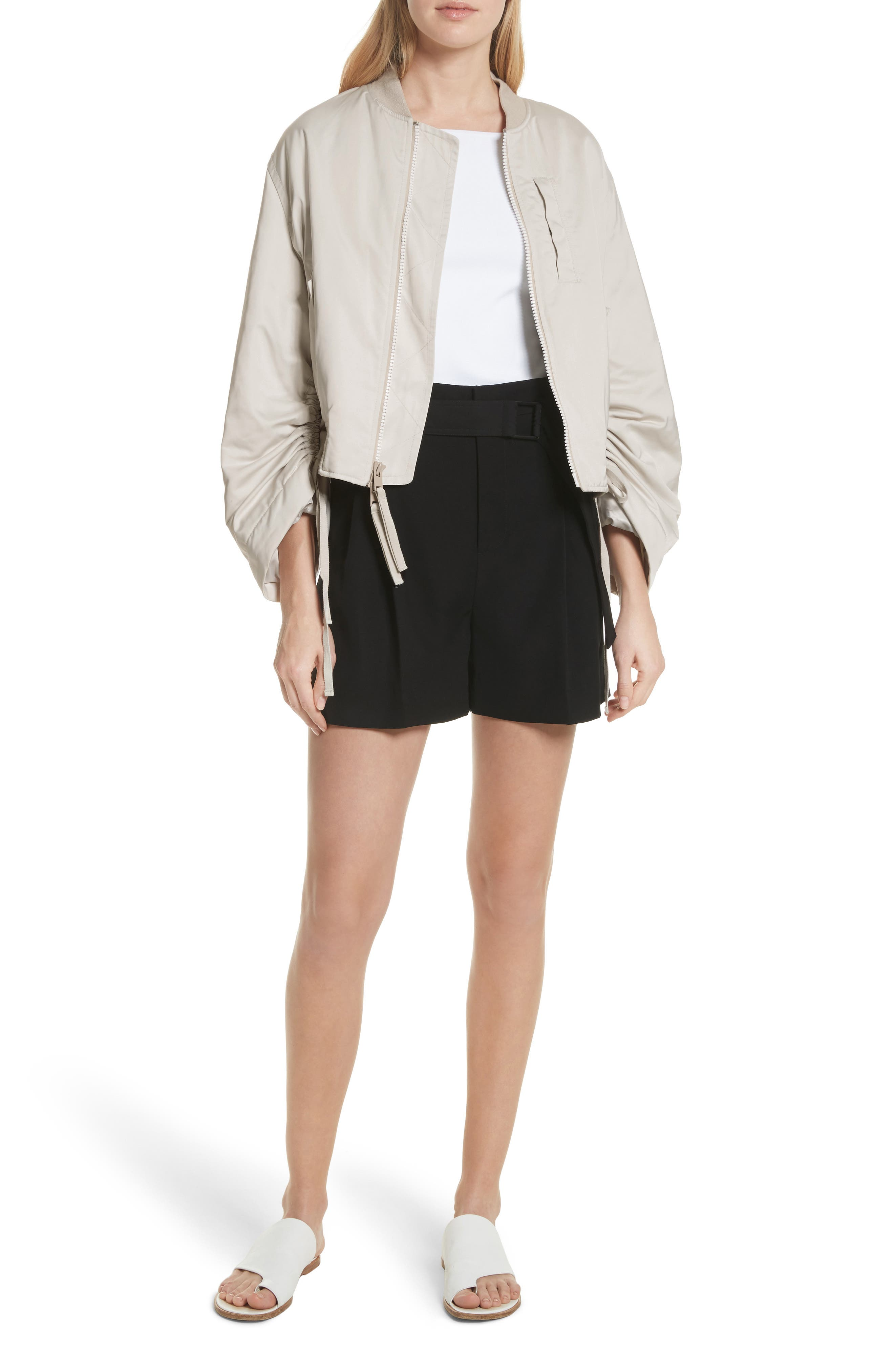 Belted Shorts,                             Alternate thumbnail 5, color,                             Black