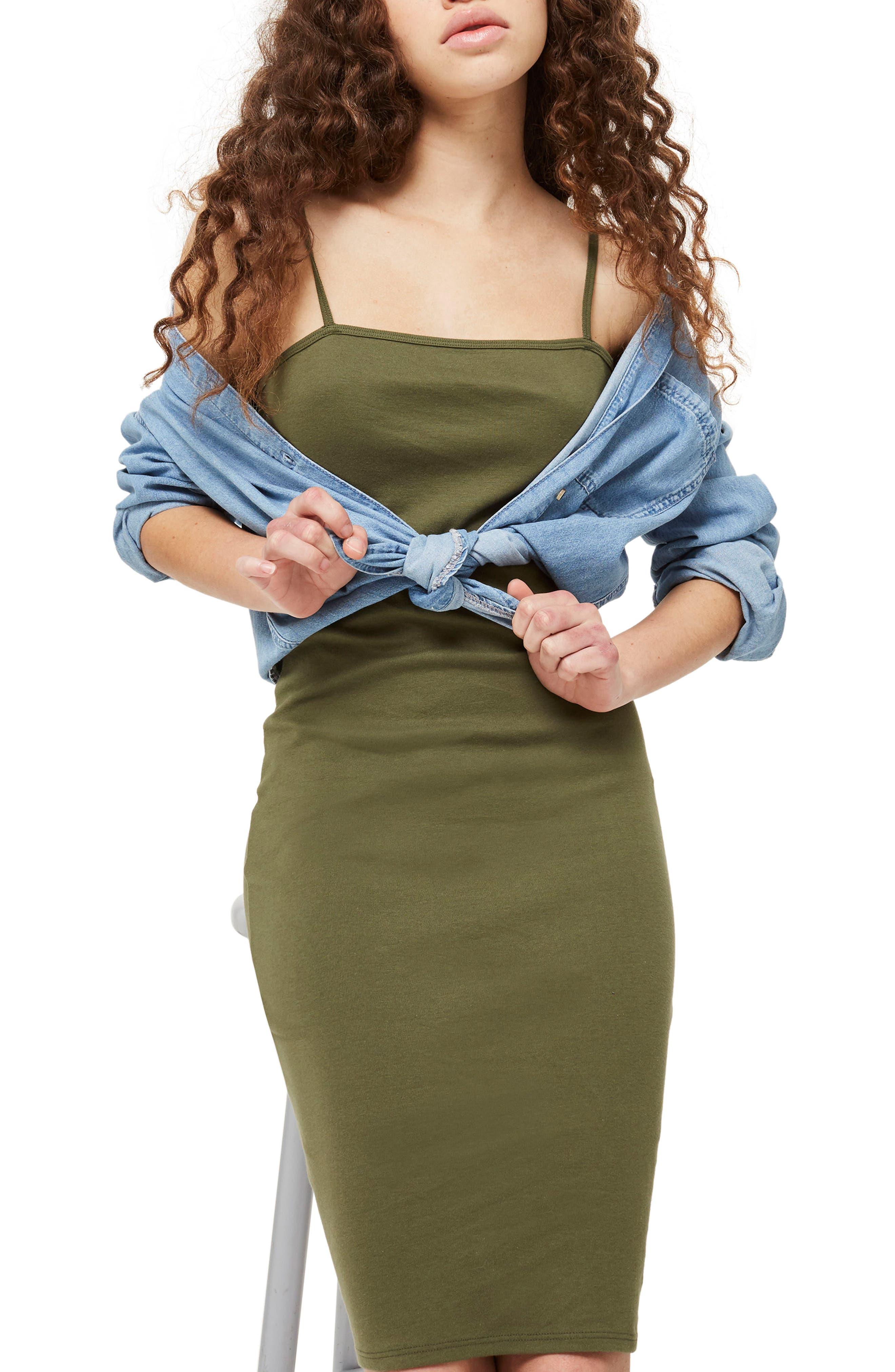 Topshop Body-Con Midi Dress
