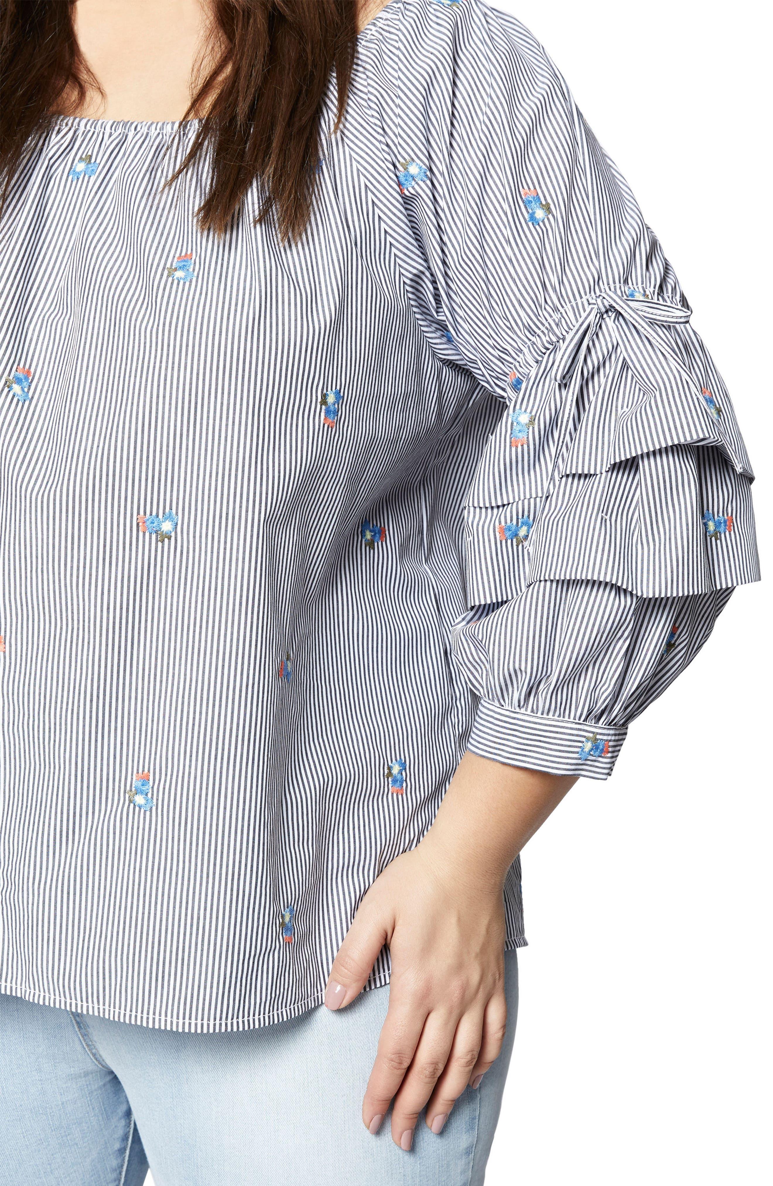 Alternate Image 2  - Sanctuary Saffron Folded Sleeve Blouse (Plus Size)