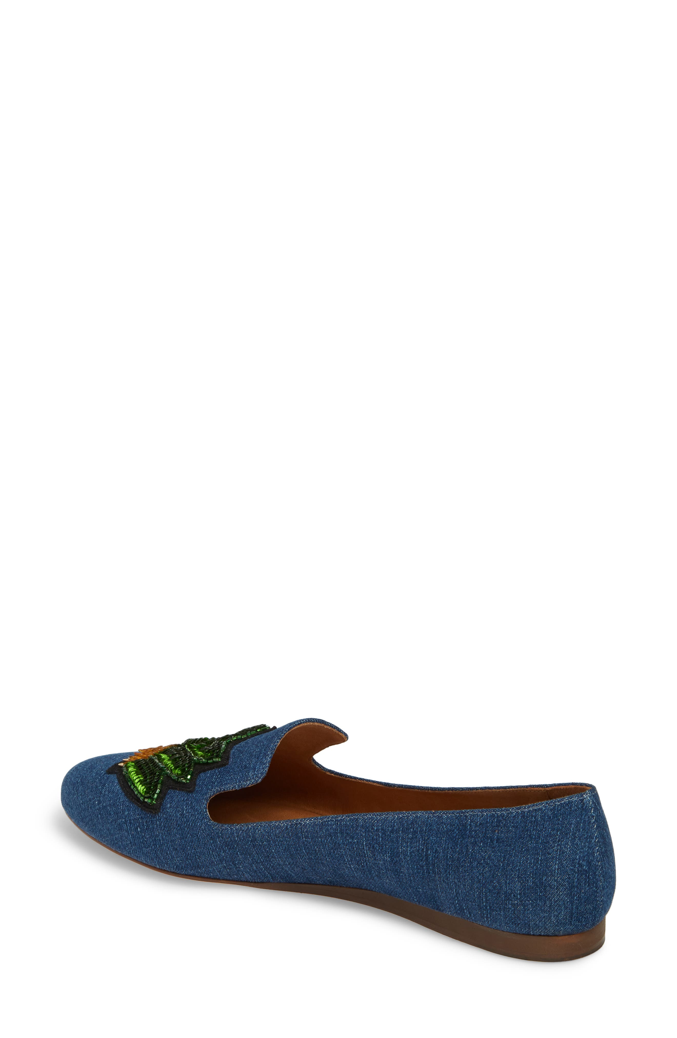 Griffin Pointy Toe Loafer,                             Alternate thumbnail 2, color,                             Chambray