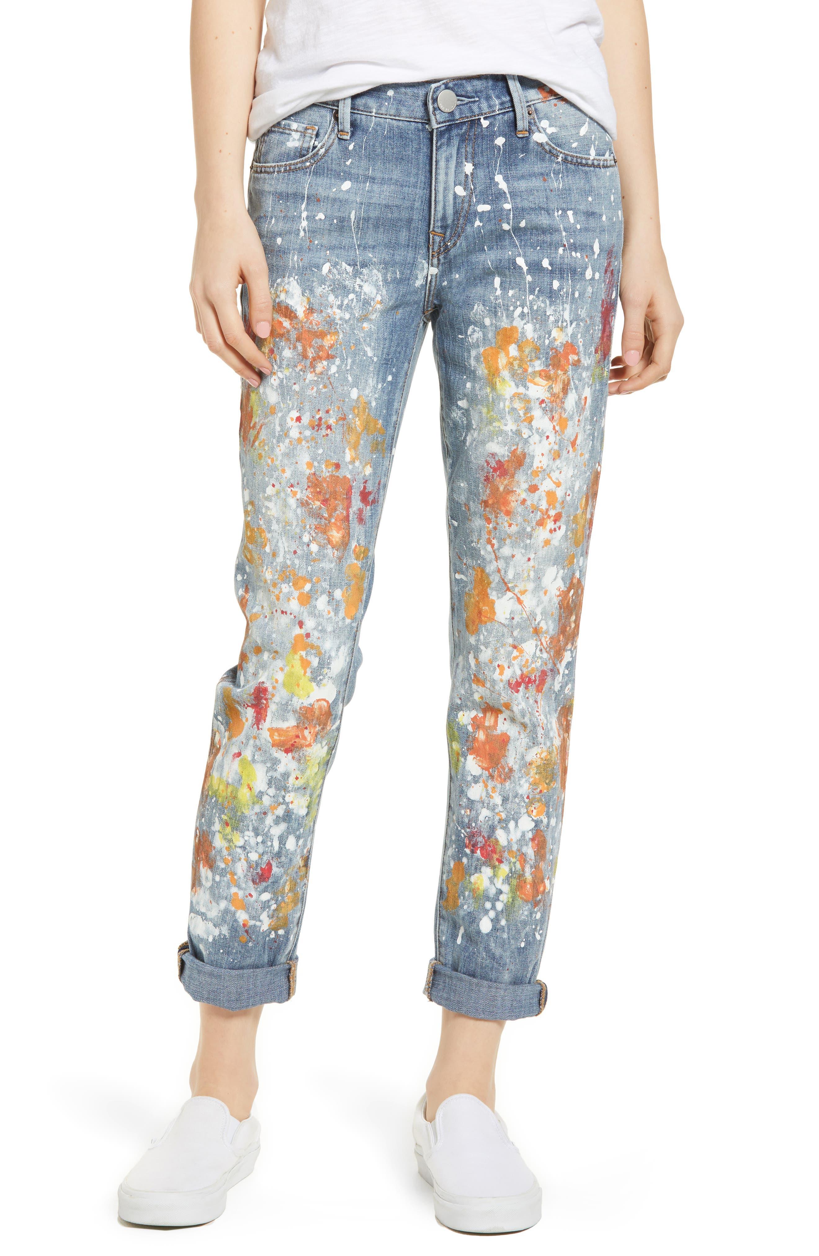 Cameron Slim Boyfriend Jeans,                             Main thumbnail 1, color,                             Erwm Popm Art