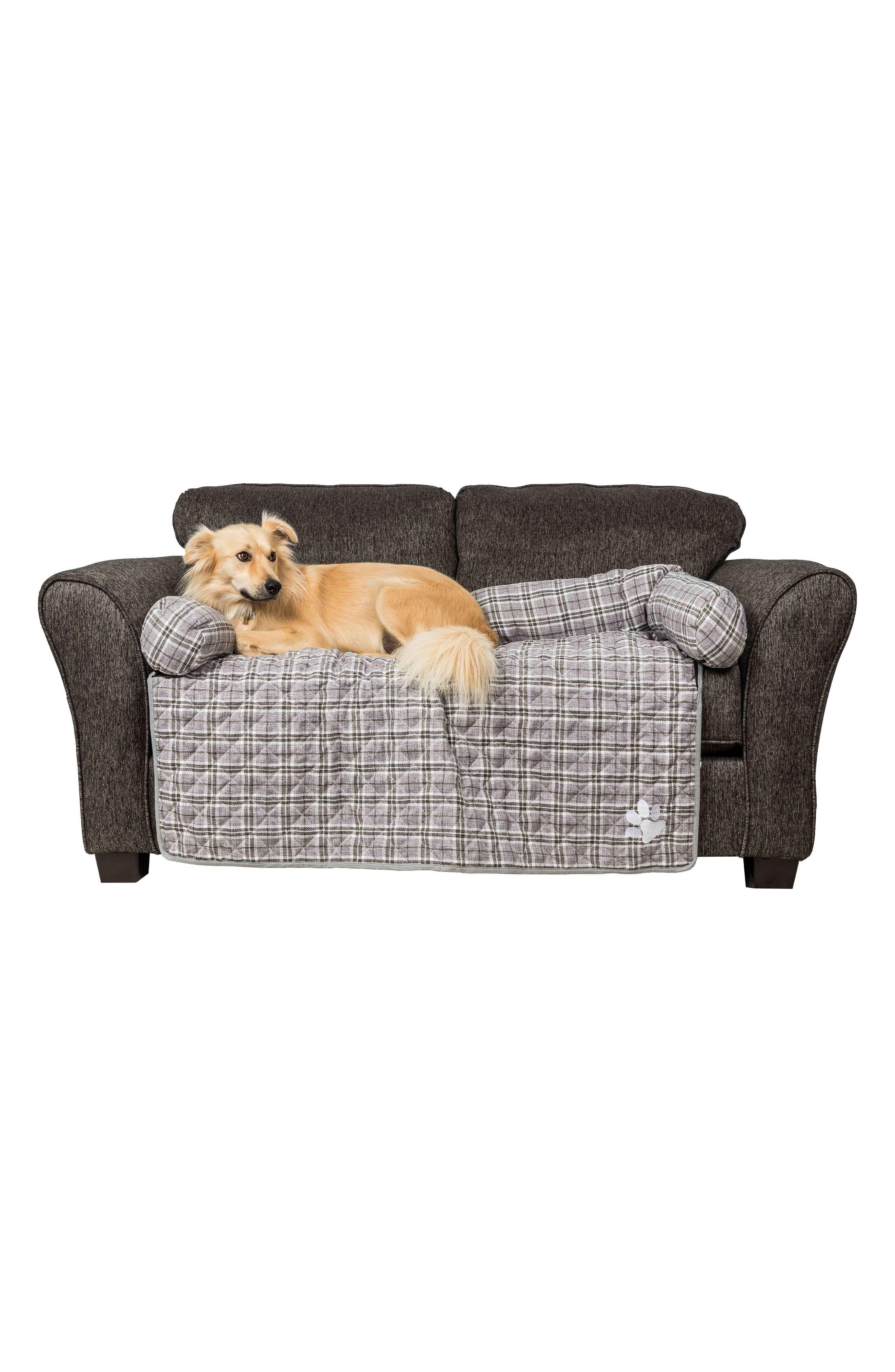 Harlee Reversible Pet Sofa Cover,                             Alternate thumbnail 3, color,                             Grey