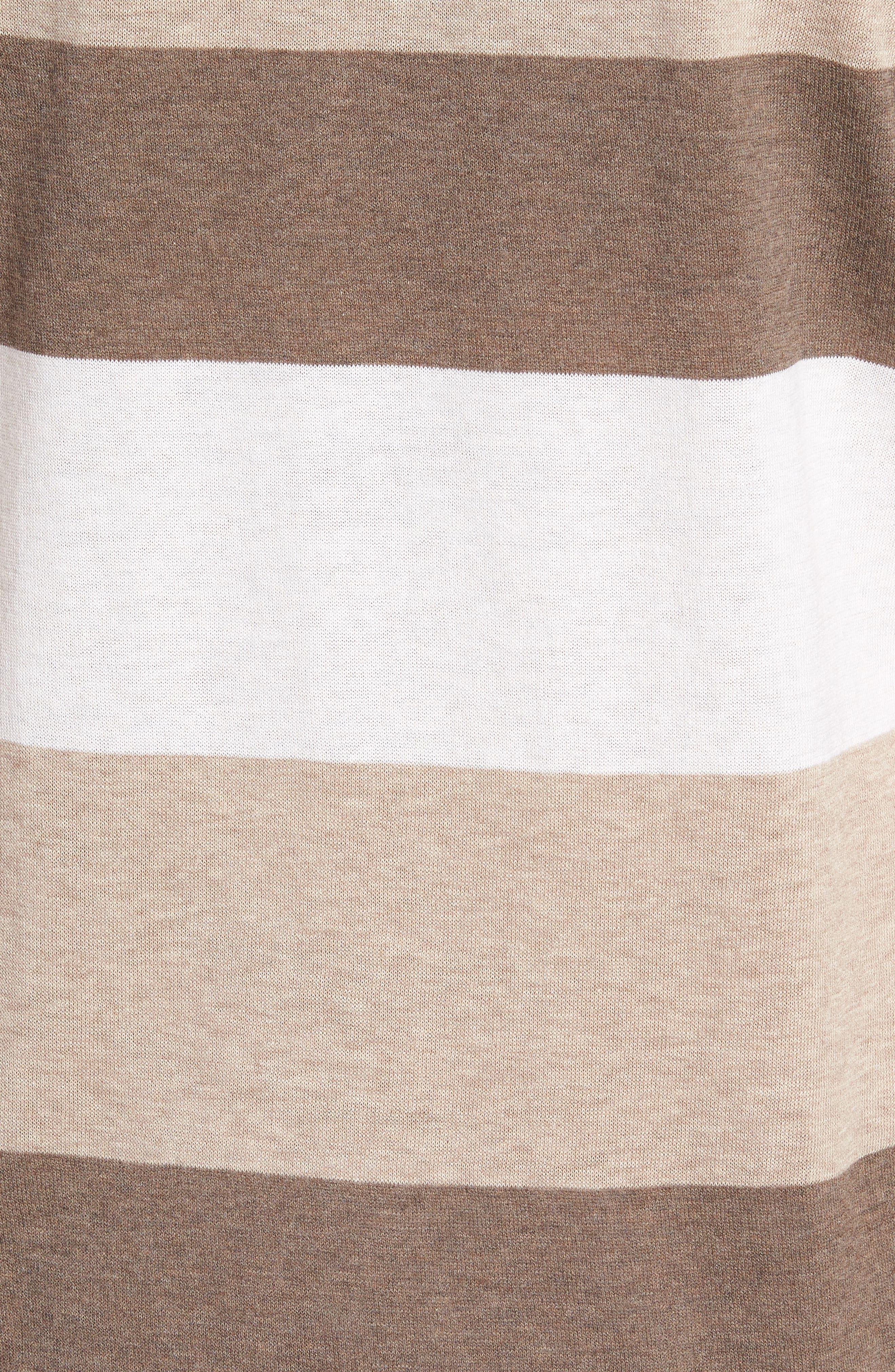 Stripe Polo Shirt,                             Alternate thumbnail 5, color,                             Brown