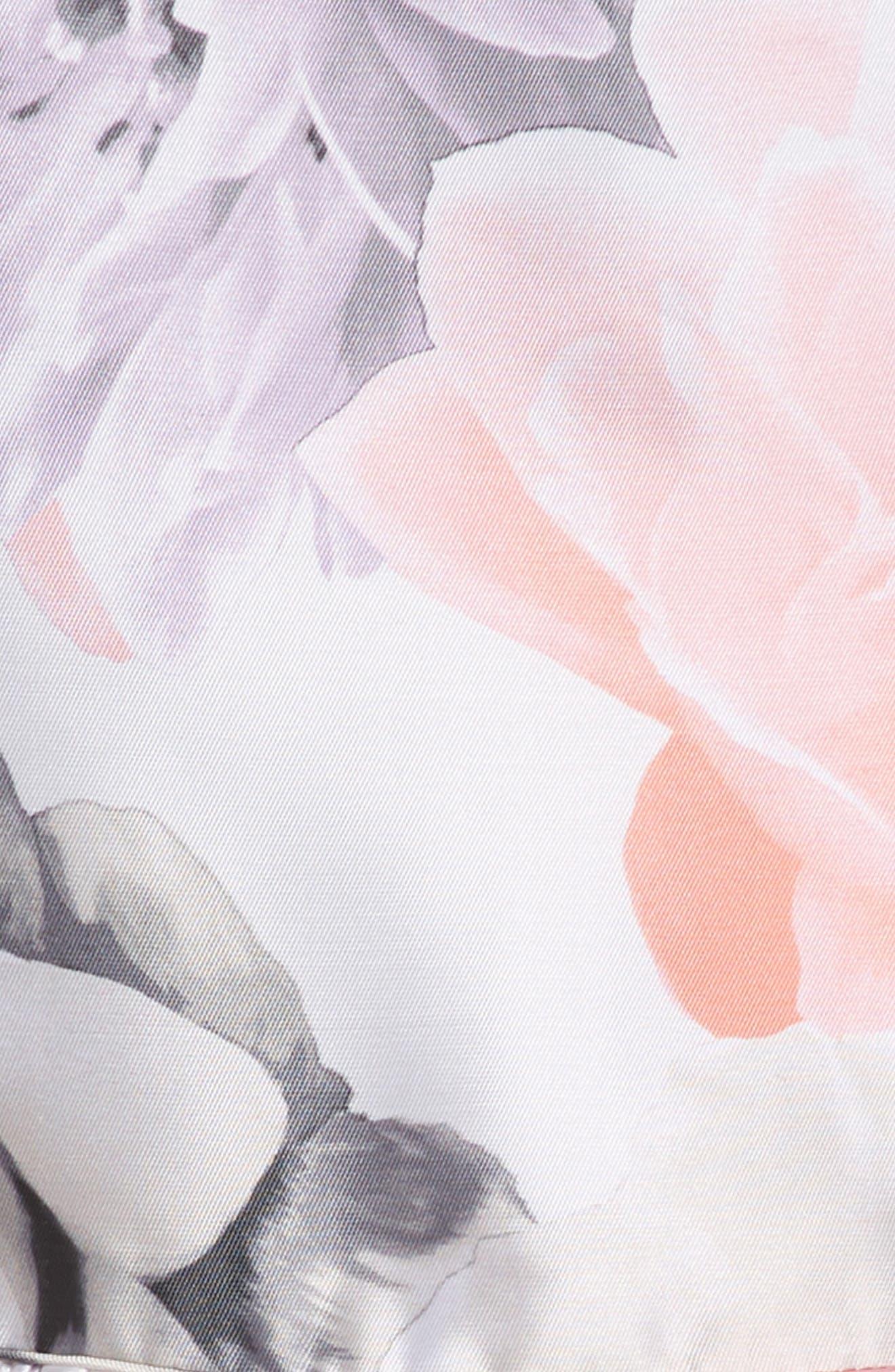 Floral Print Party Dress,                             Alternate thumbnail 2, color,                             Ivory