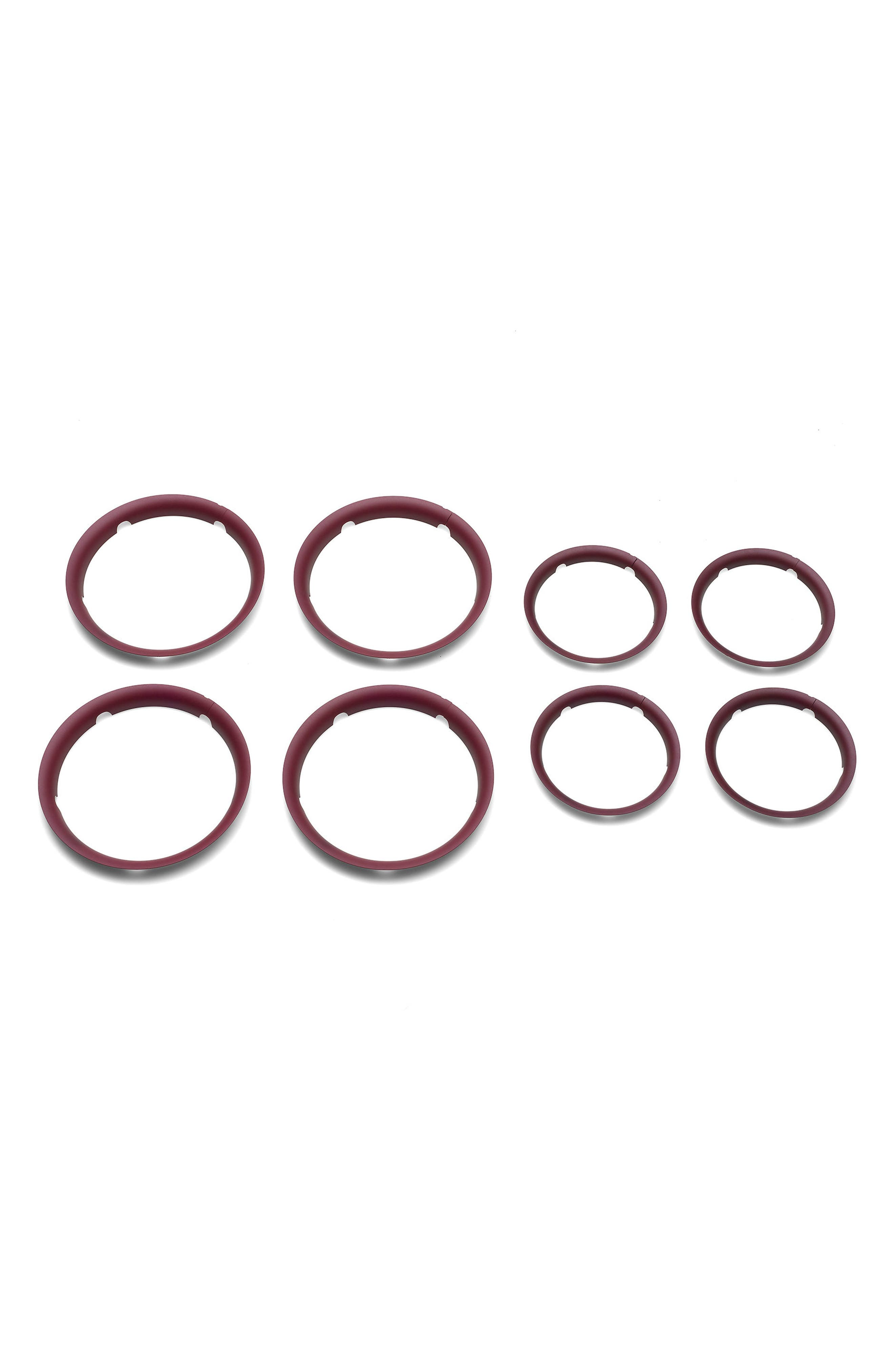 Set of Wheel Caps for Bugaboo Fox Stroller,                         Main,                         color, Red