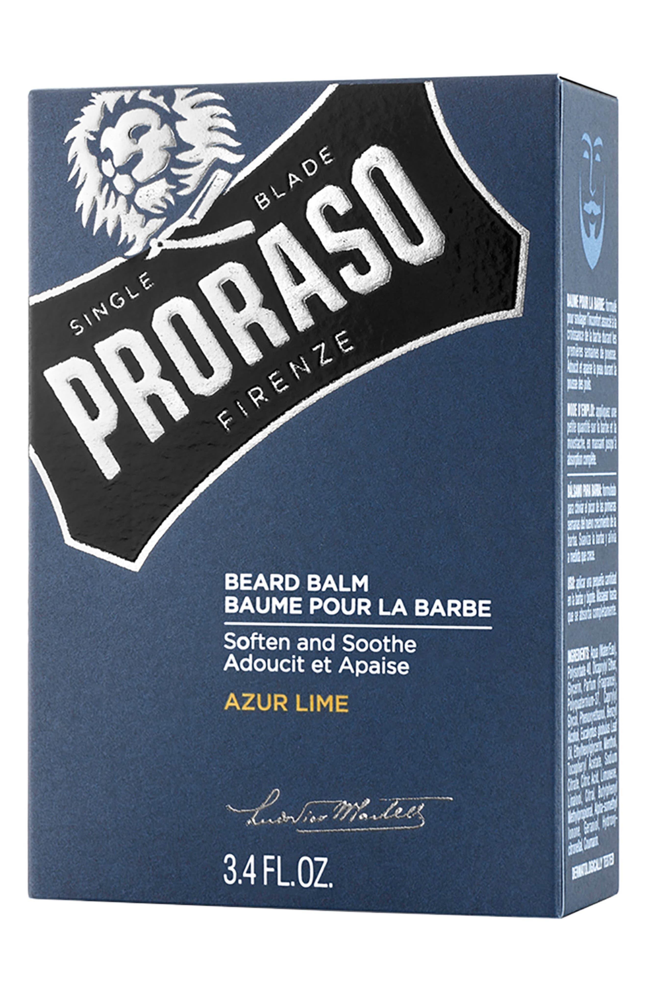 Men's Grooming Azur Lime Beard Balm,                             Alternate thumbnail 3, color,                             No Color