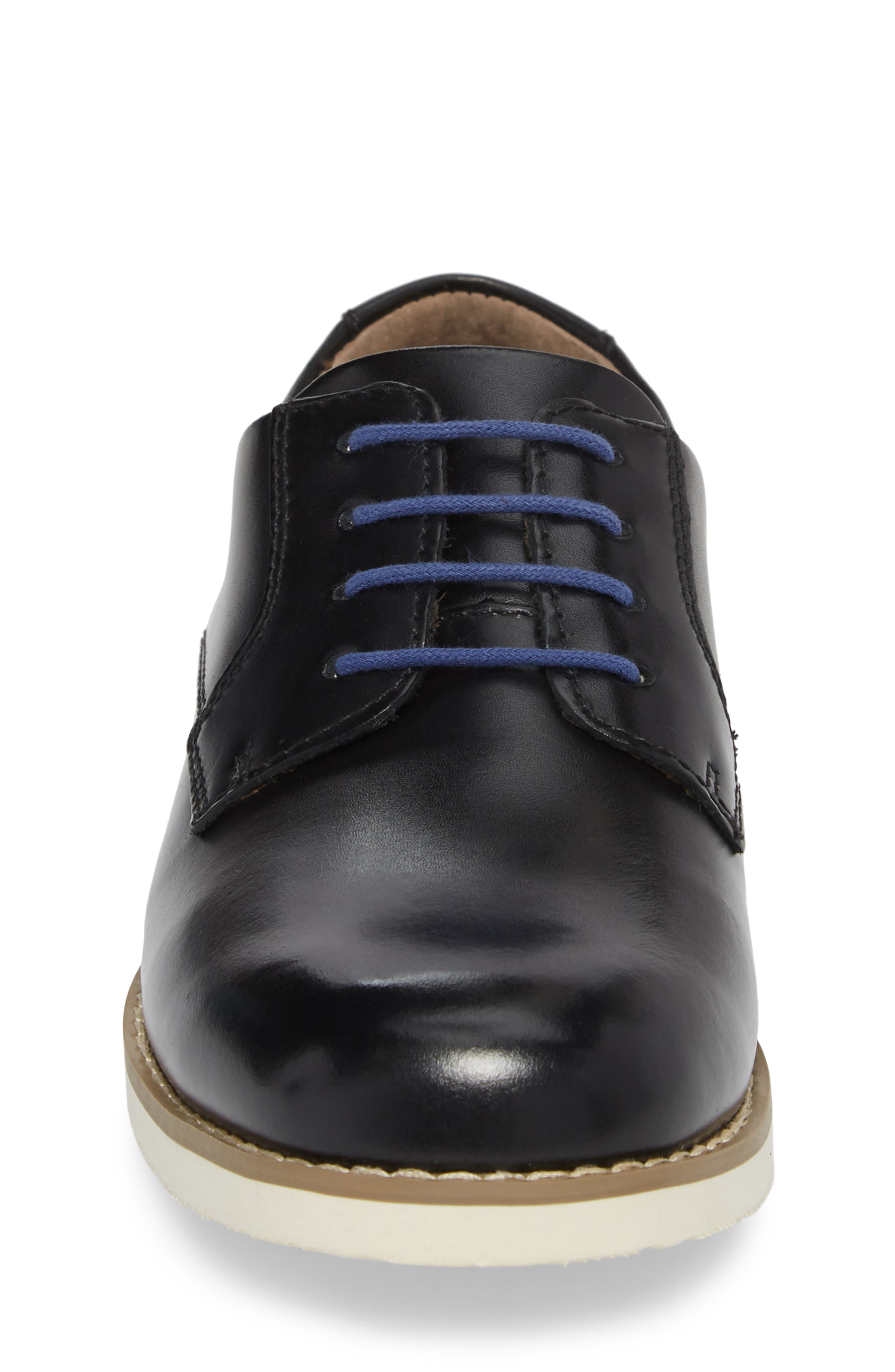 Kearny II Derby,                             Alternate thumbnail 4, color,                             Black Leather
