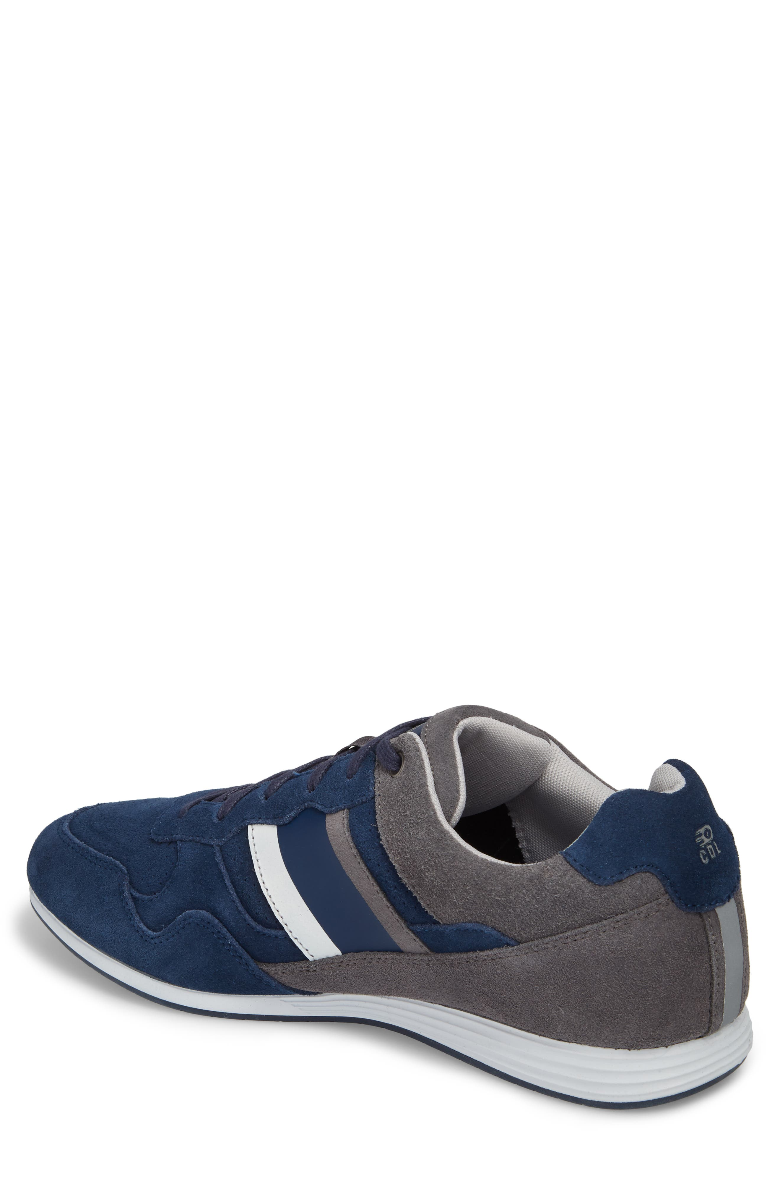 Scarpo Low Top Sneaker,                             Alternate thumbnail 2, color,                             Navy Suede
