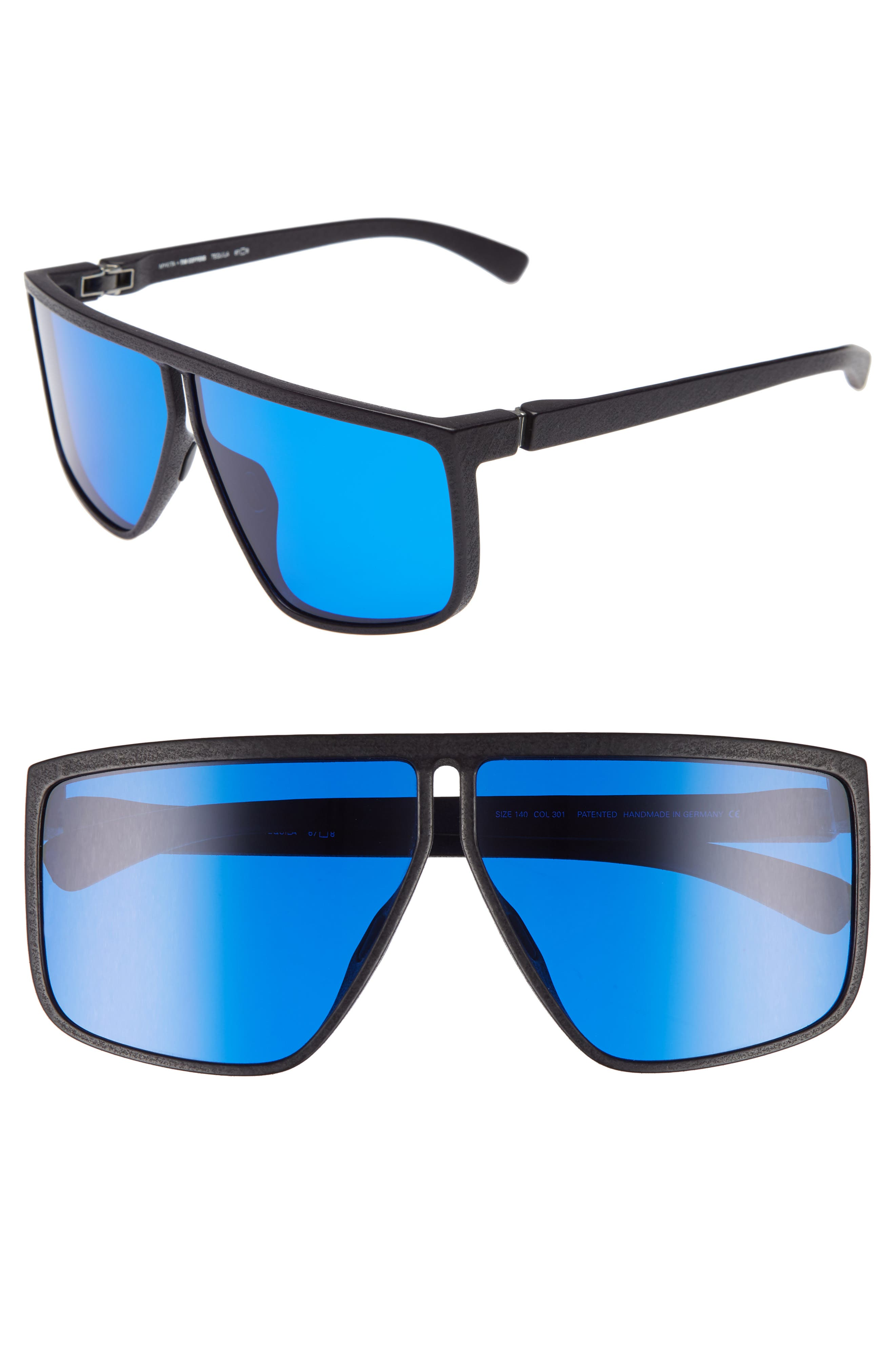 Tequila 67mm Sunglasses,                             Main thumbnail 1, color,                             Pitch Black/ Navy Shield