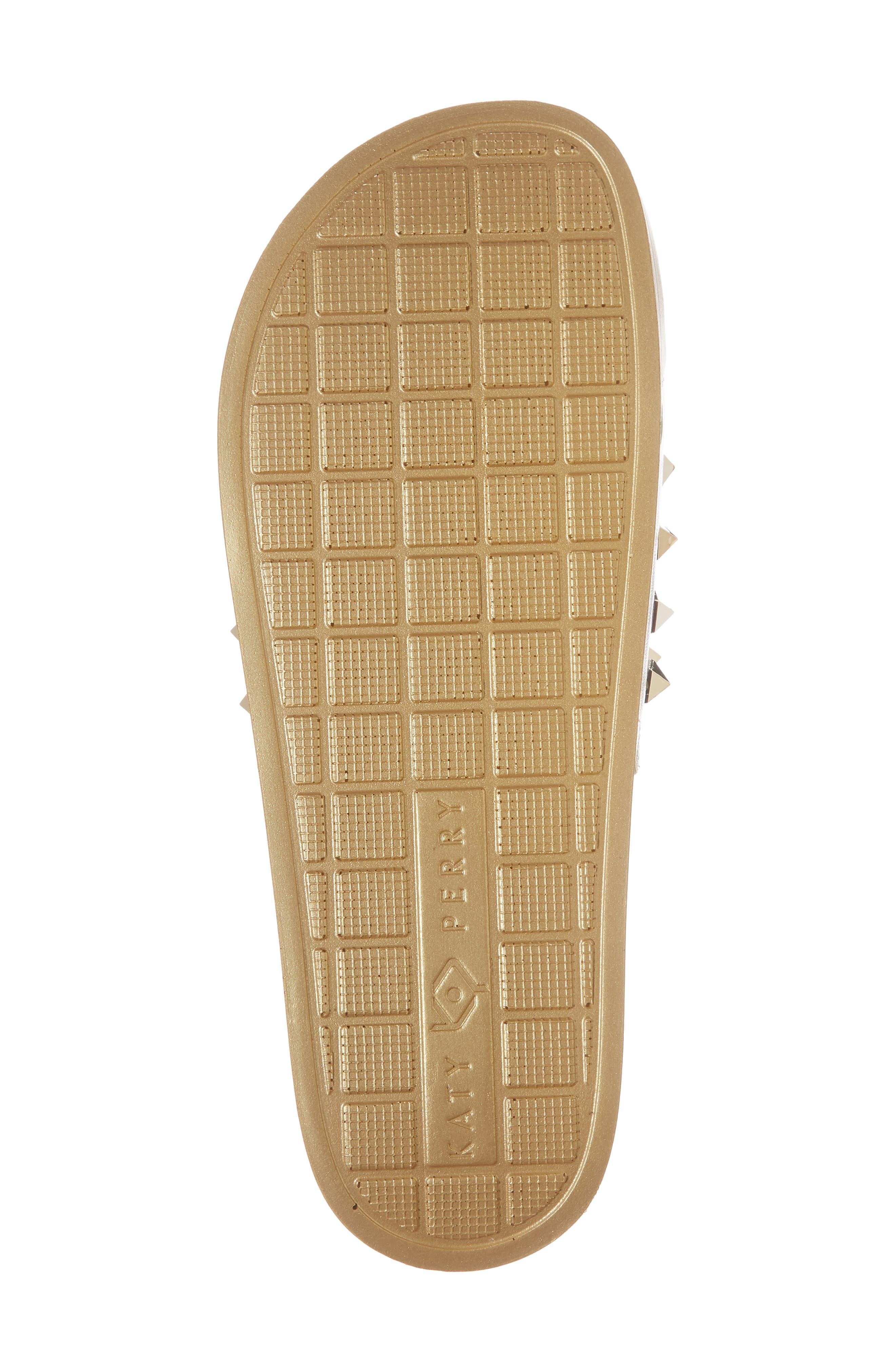 Studded Slide Sandal,                             Alternate thumbnail 6, color,                             Gold