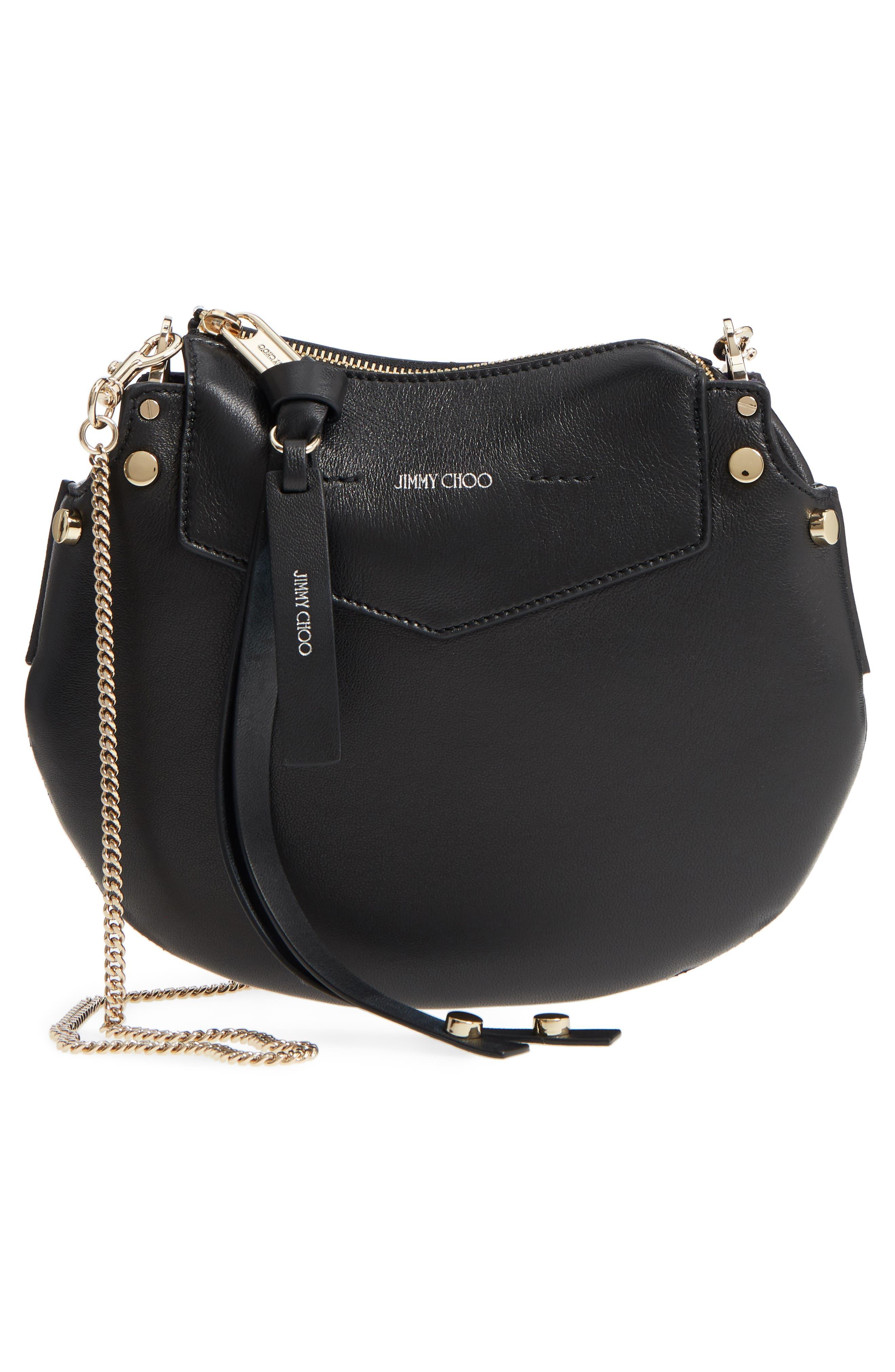 Mini Artie Leather Crossbody Bag,                             Alternate thumbnail 7, color,                             Black