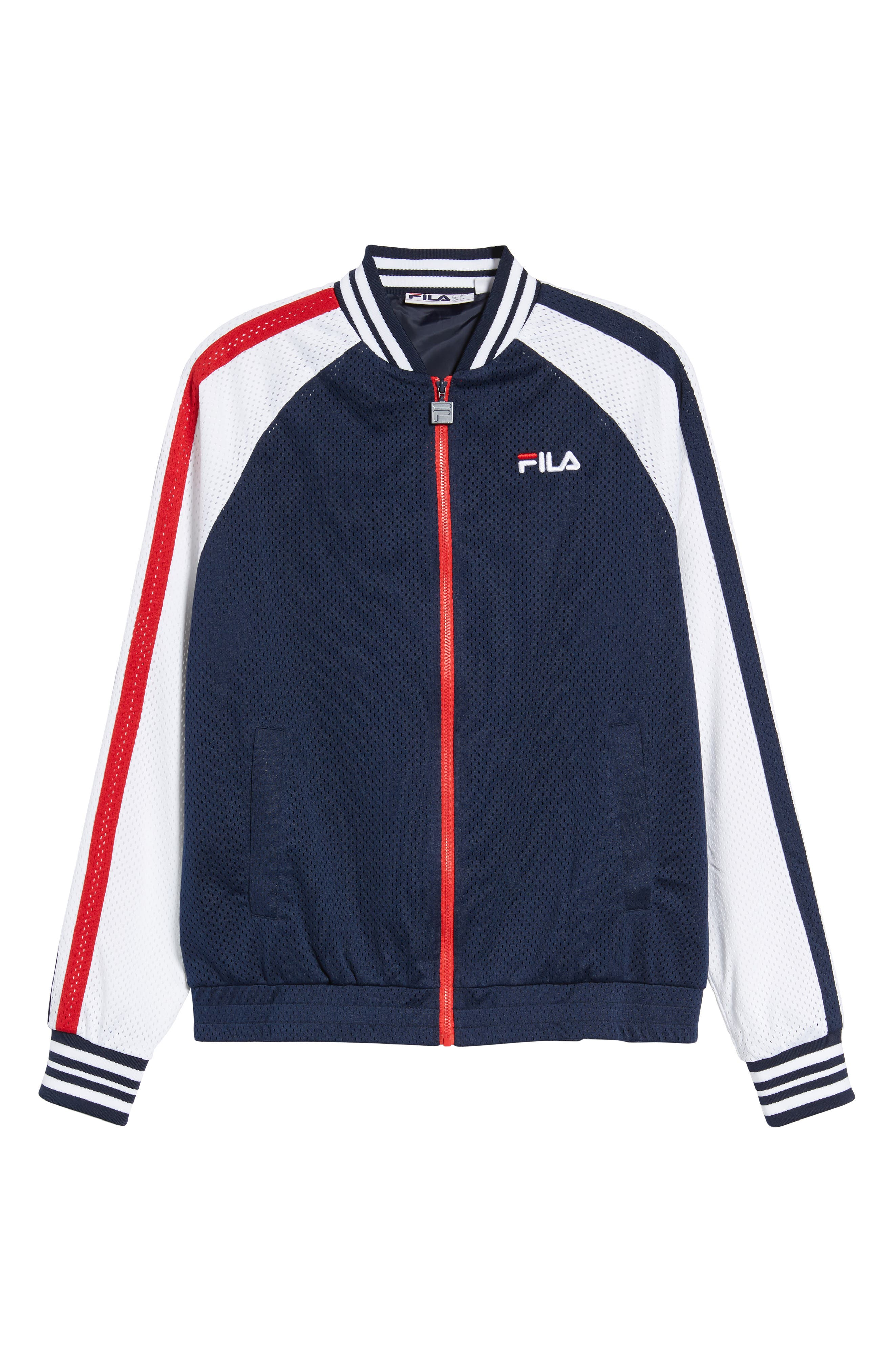 Lucas Jacket,                             Alternate thumbnail 5, color,                             Peacoat/ White/ Chinese Red