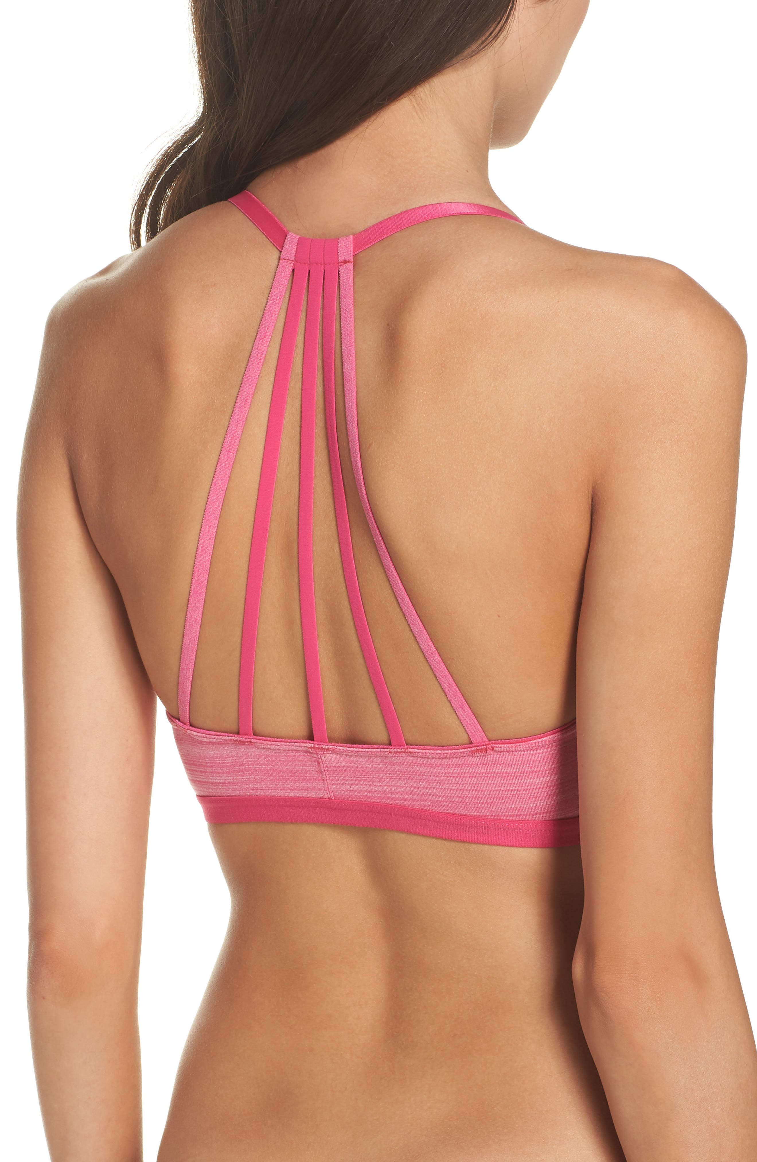 Strappy Bralette,                         Main,                         color, Pink Peacock