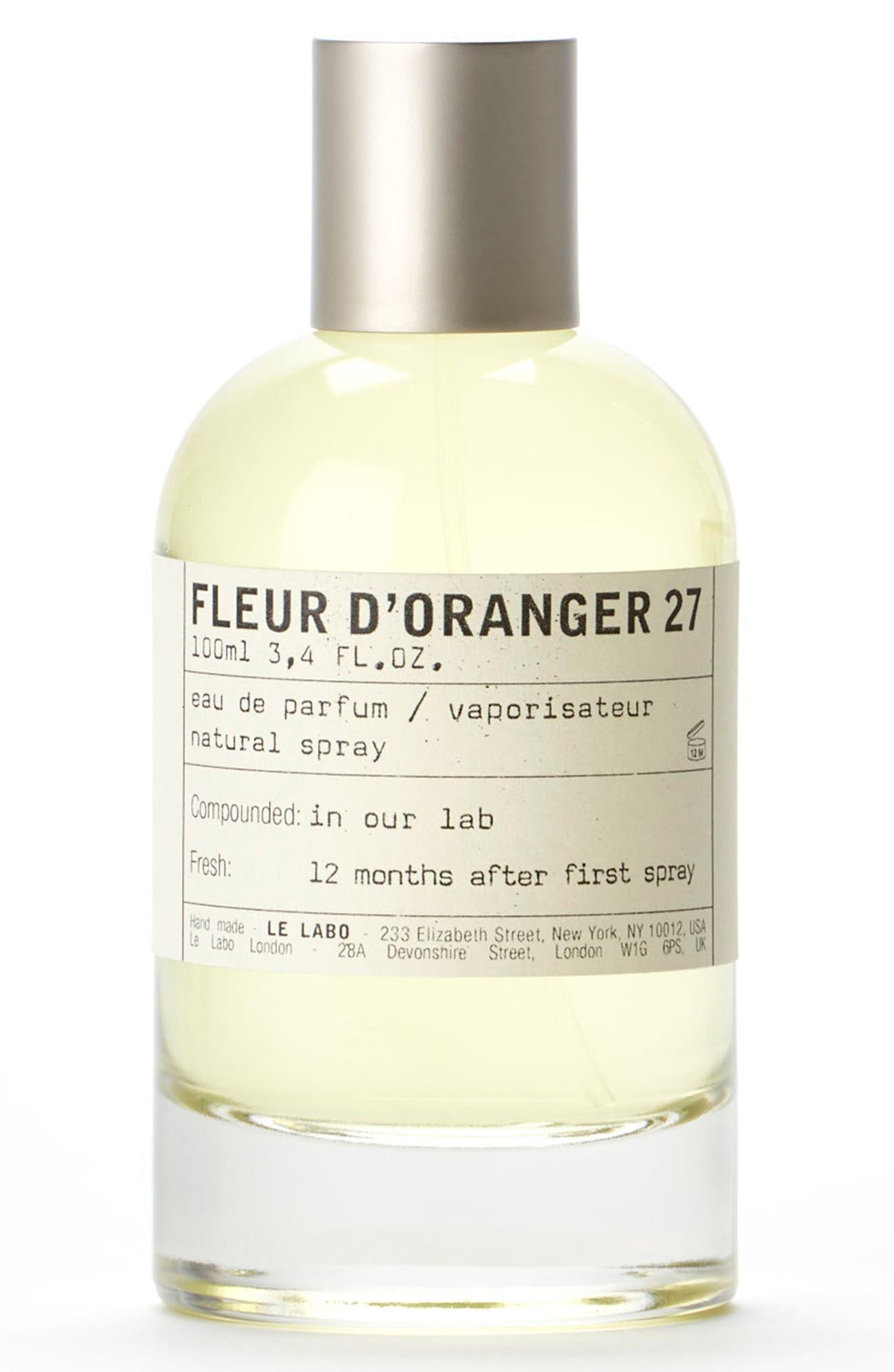 'Fleur d'Oranger 27' Eau de Parfum,                             Main thumbnail 1, color,                             No Color