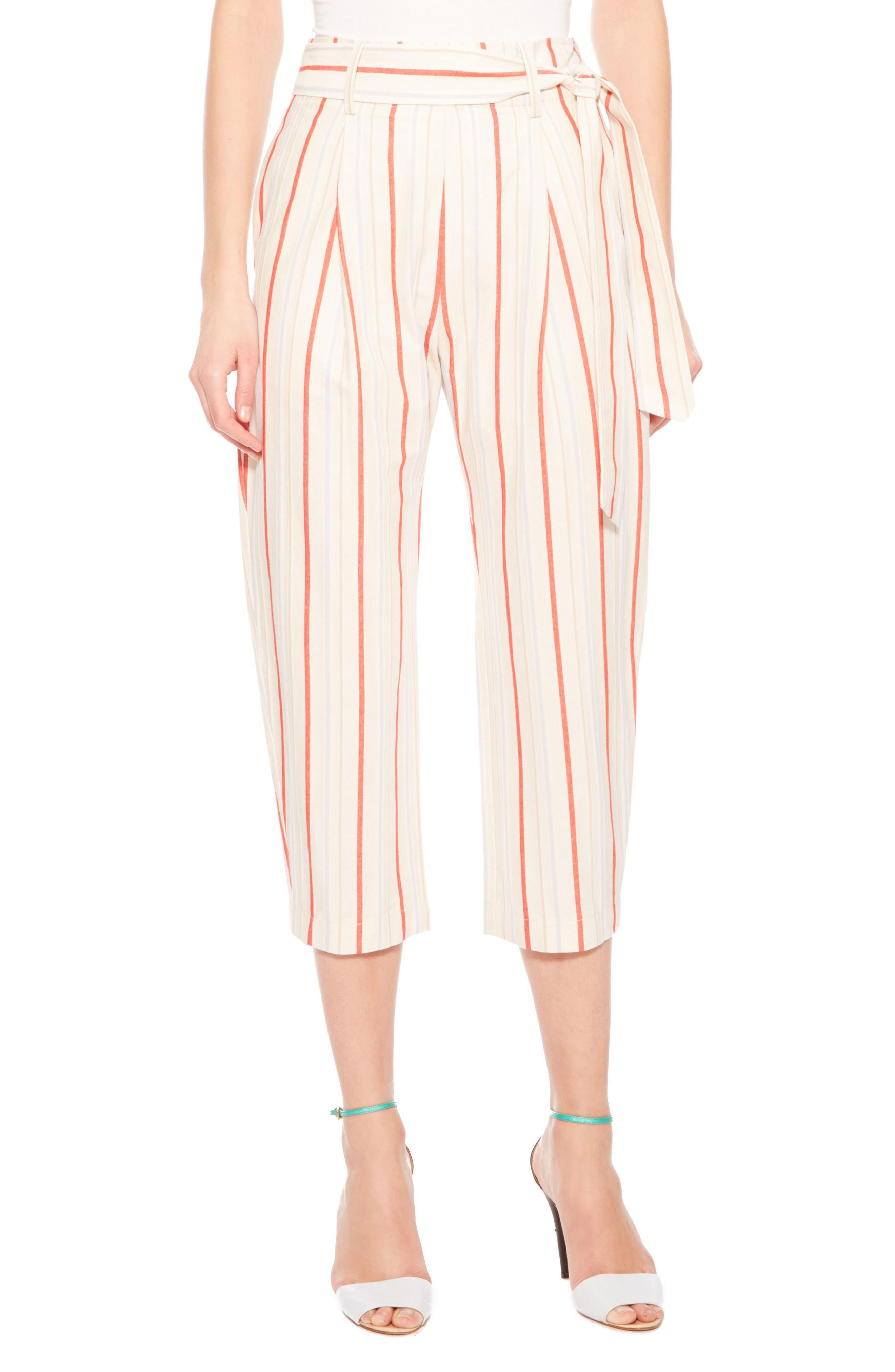 Ramsey Stripe Cotton Twill Pants,                             Main thumbnail 1, color,                             Multi